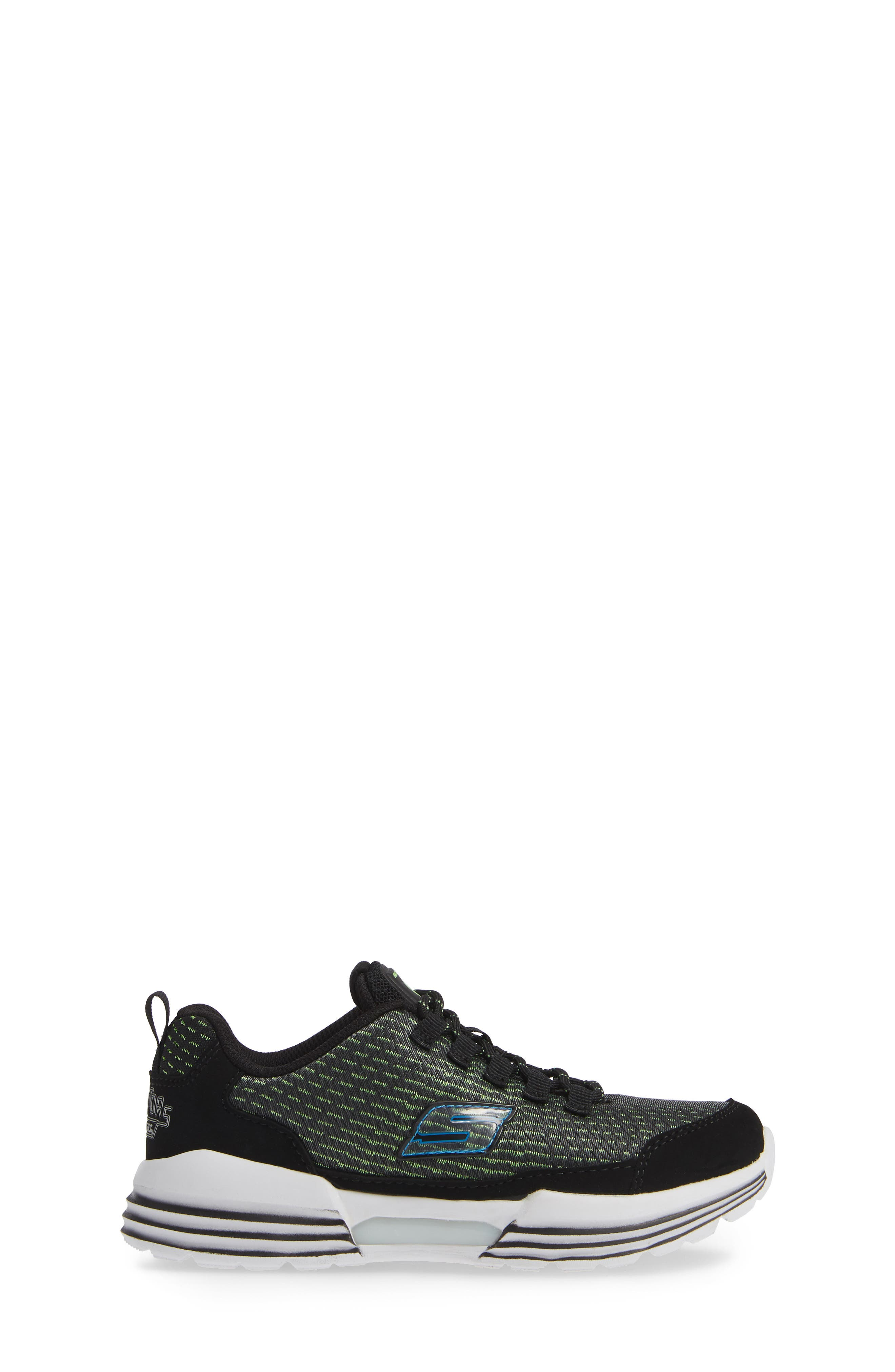 Luminators Sneaker,                             Alternate thumbnail 3, color,                             BLACK/ LIME