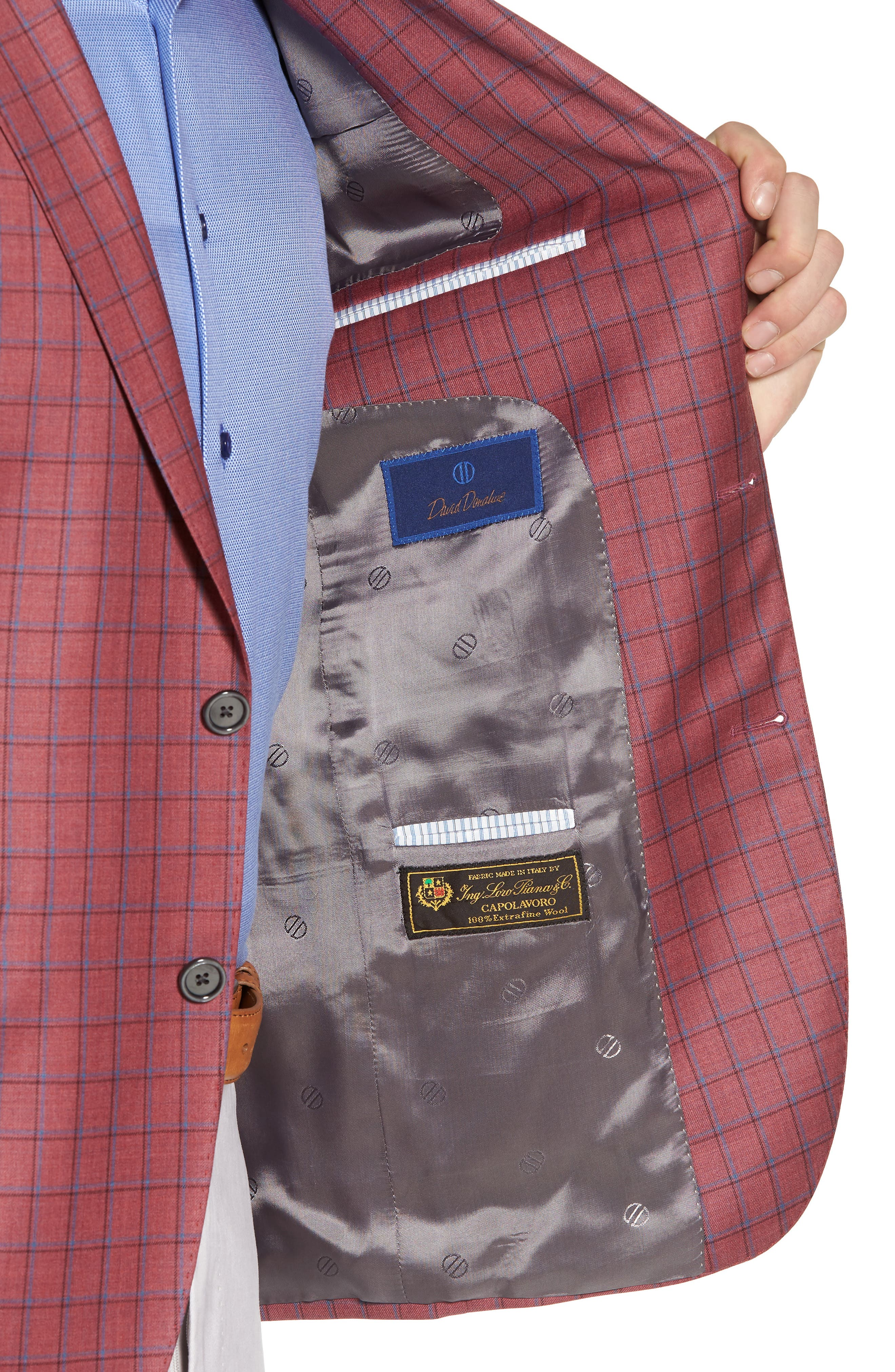 Arnold Classic Fit Plaid Wool Sport Coat,                             Alternate thumbnail 4, color,                             600