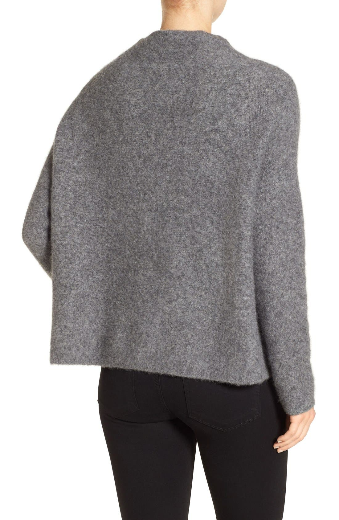 'Bouclé Bliss' Cashmere & Silk Blend Funnel Neck Sweater,                             Alternate thumbnail 7, color,