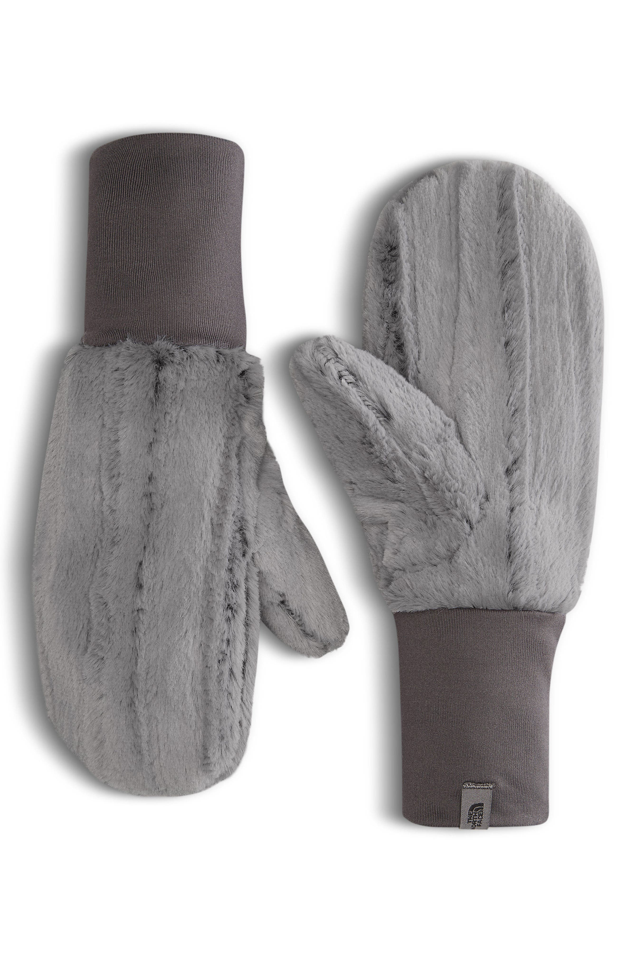 THE NORTH FACE Furlander Faux Fur Mittens, Main, color, 030