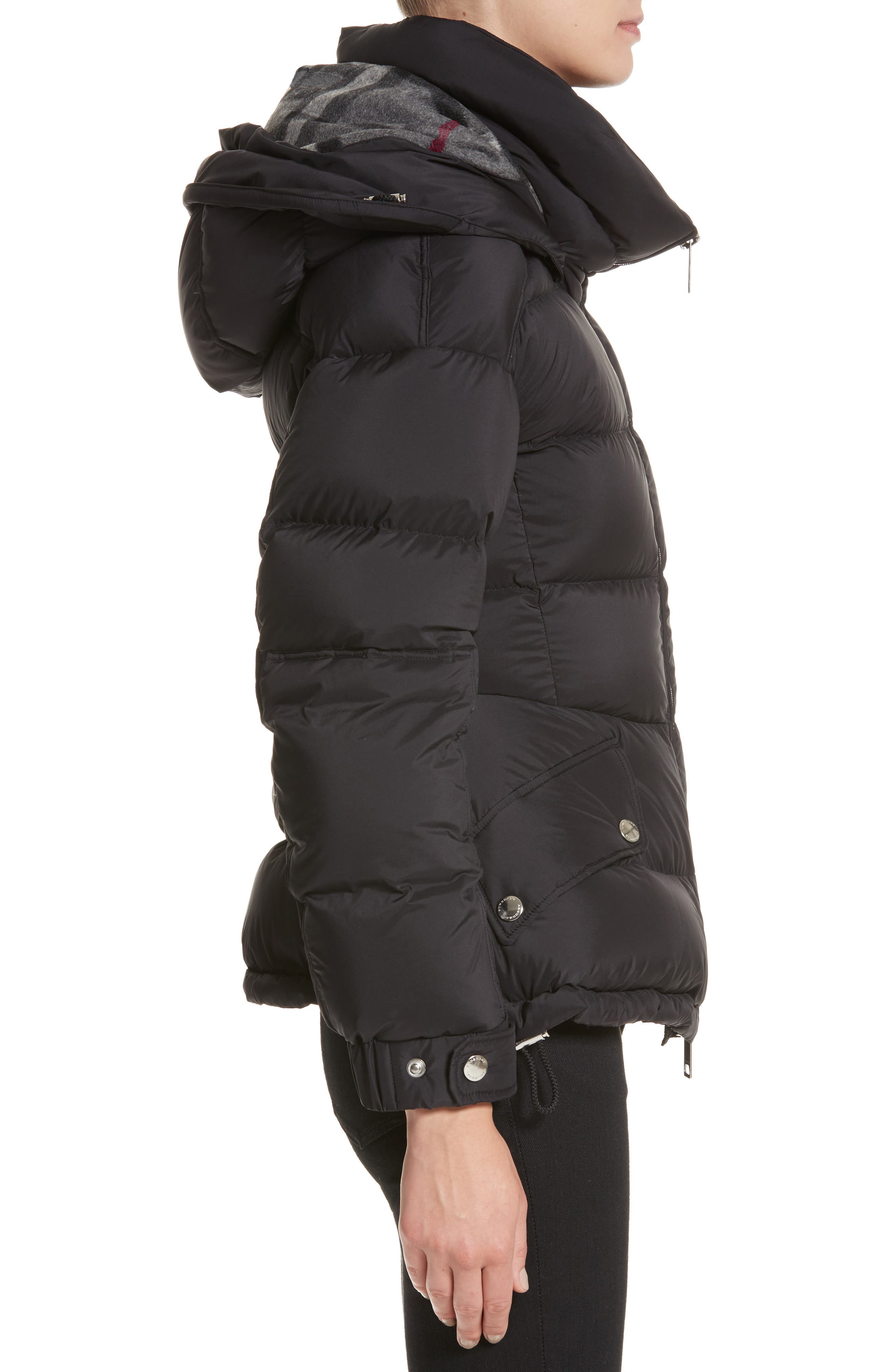 Fleetwood Hooded Down Puffer Jacket,                             Alternate thumbnail 3, color,                             001