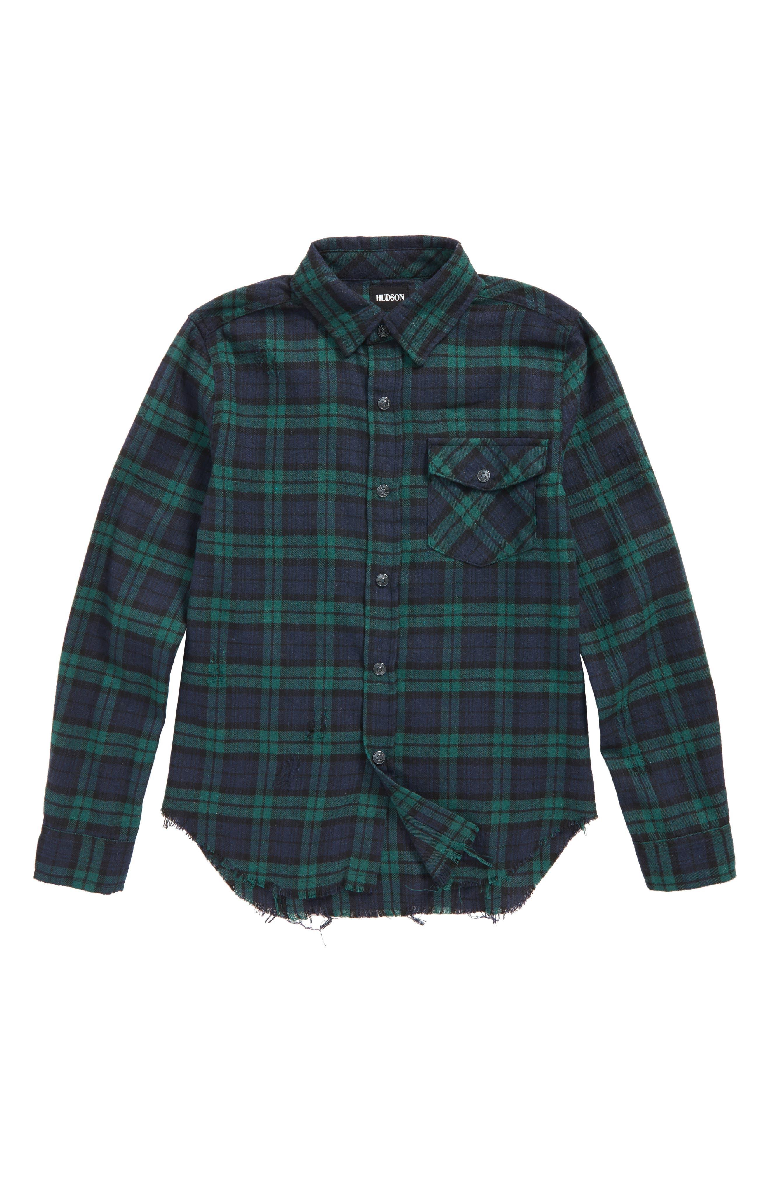 Hudson Jeans Check Sport Shirt,                         Main,                         color, 363