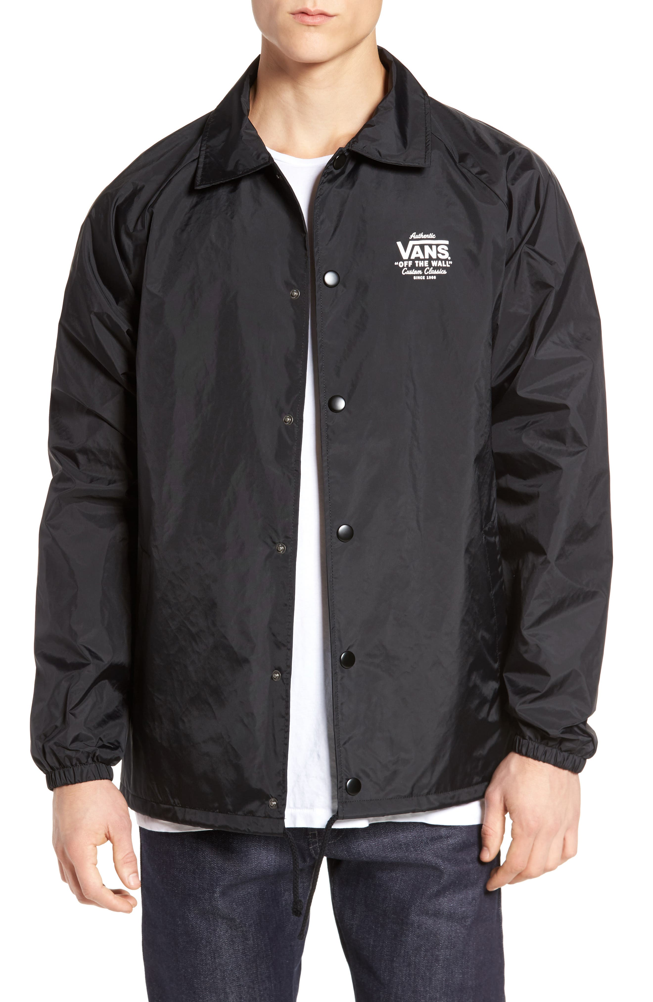 Torrey Water Resistant Jacket,                             Main thumbnail 1, color,                             BLACK/ WHITE