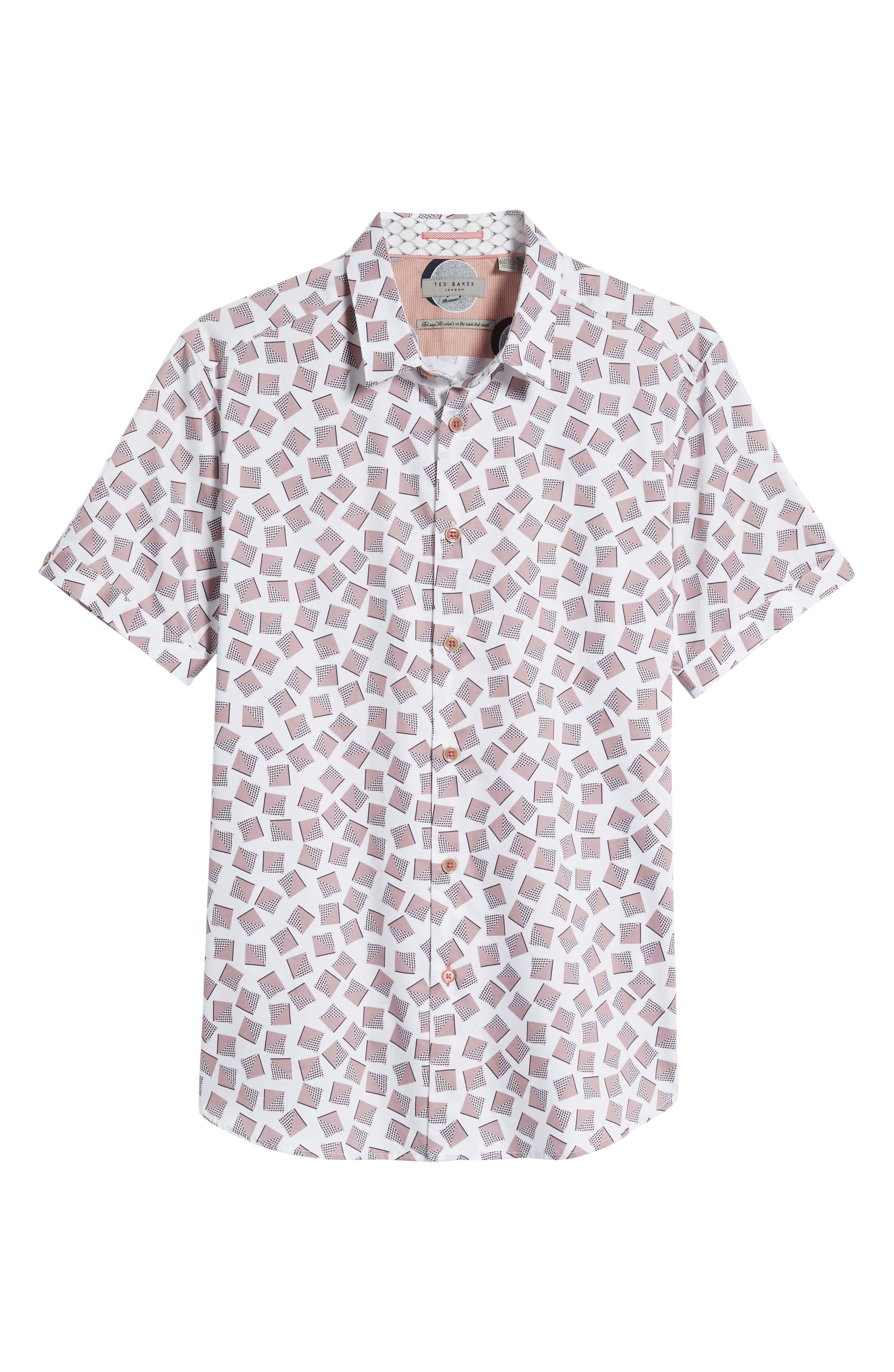 Tern Geo Print Sport Shirt,                             Alternate thumbnail 6, color,                             110