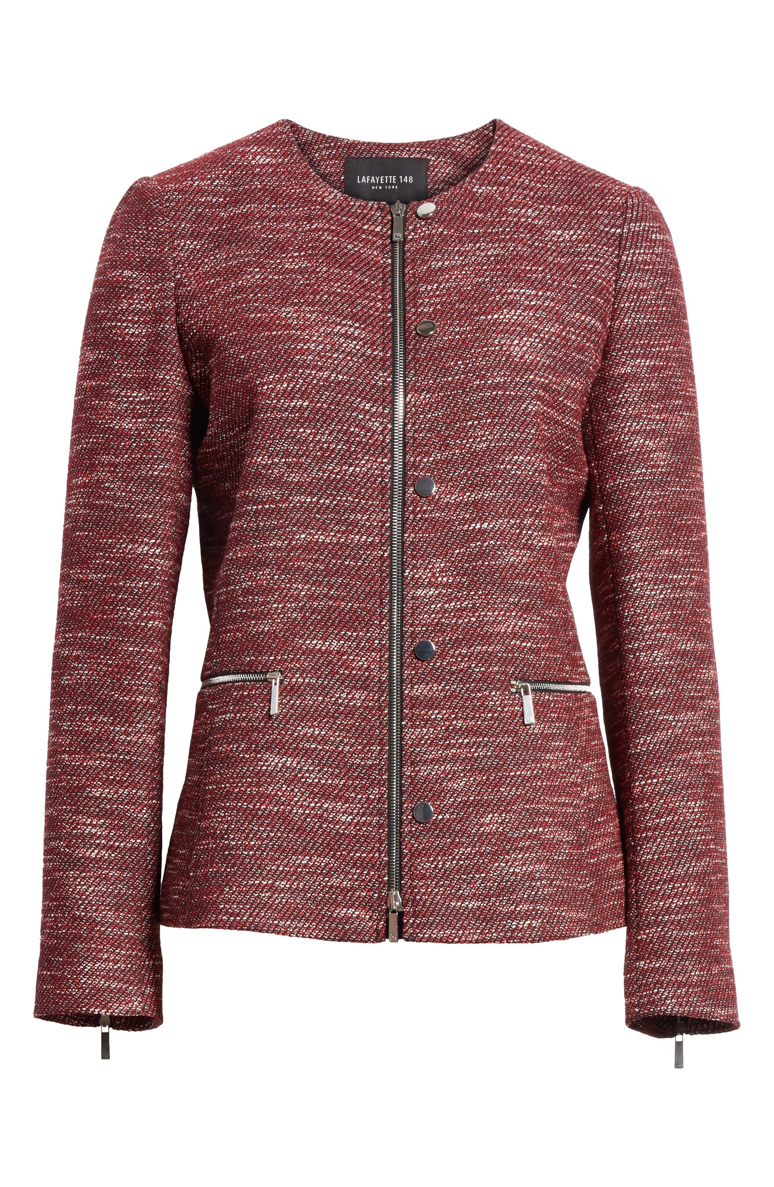 LAFAYETTE 148 NEW YORK,                             Kerrington Wool Blend Jacket,                             Alternate thumbnail 5, color,                             930