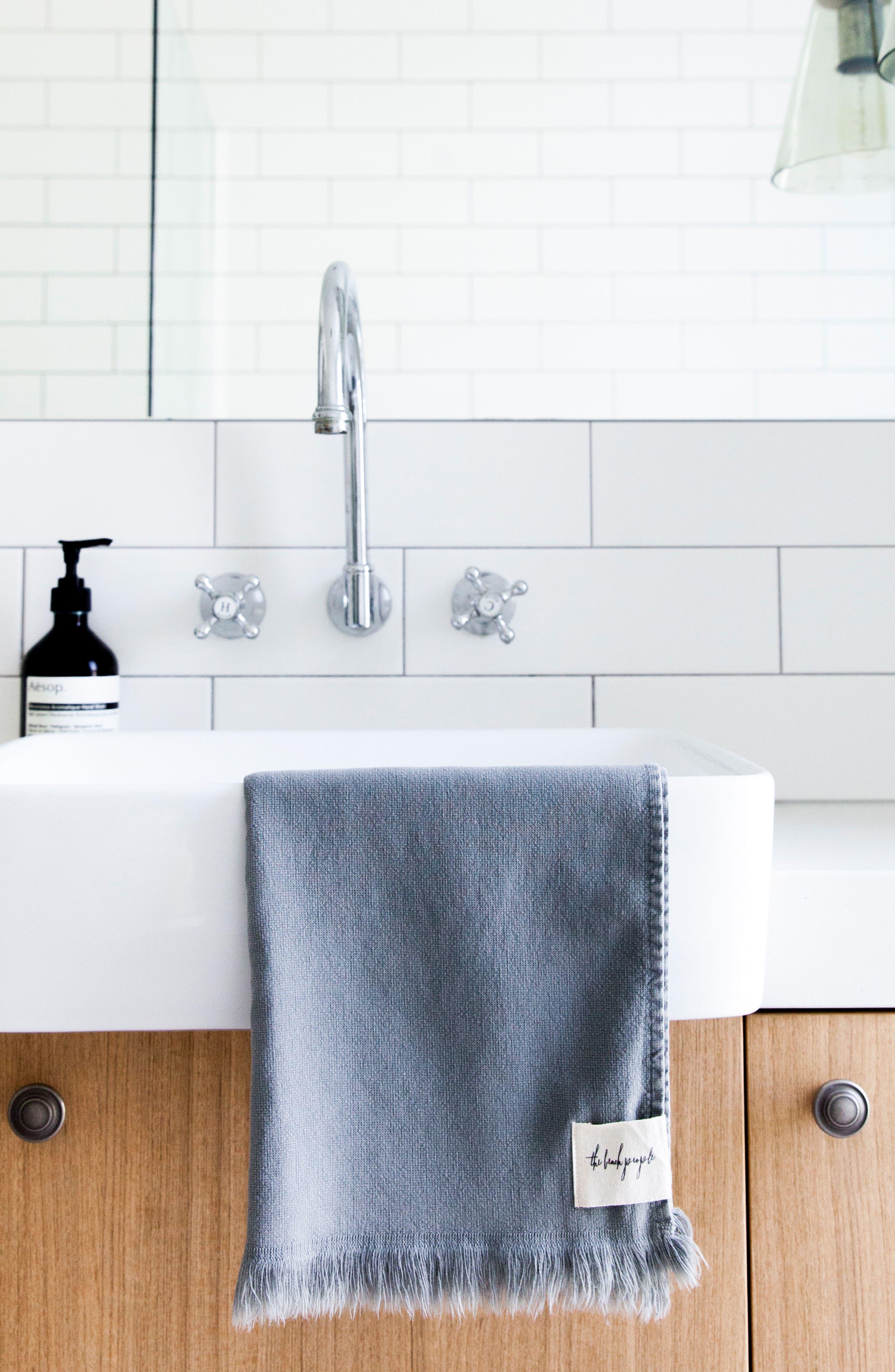 Stonewash Hand Towel,                             Alternate thumbnail 2, color,                             020