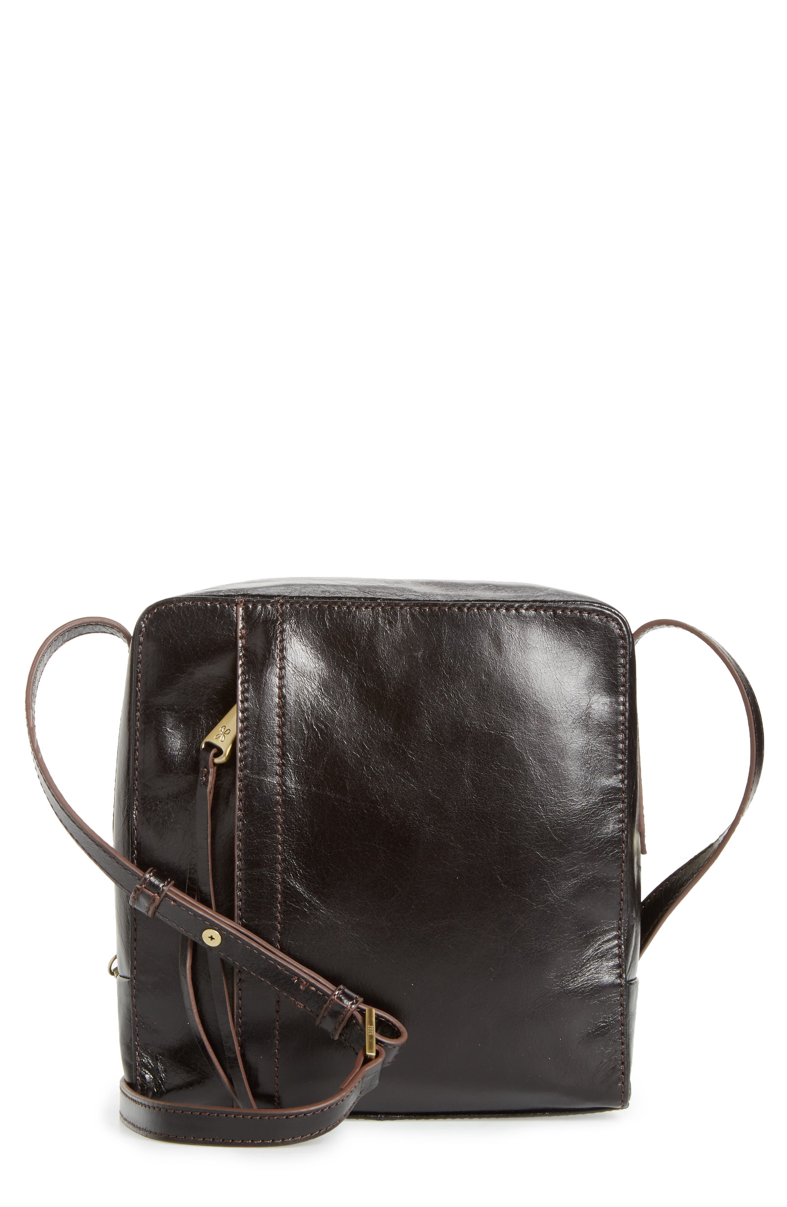 Lyric Leather Crossbody Bag,                         Main,                         color, 001