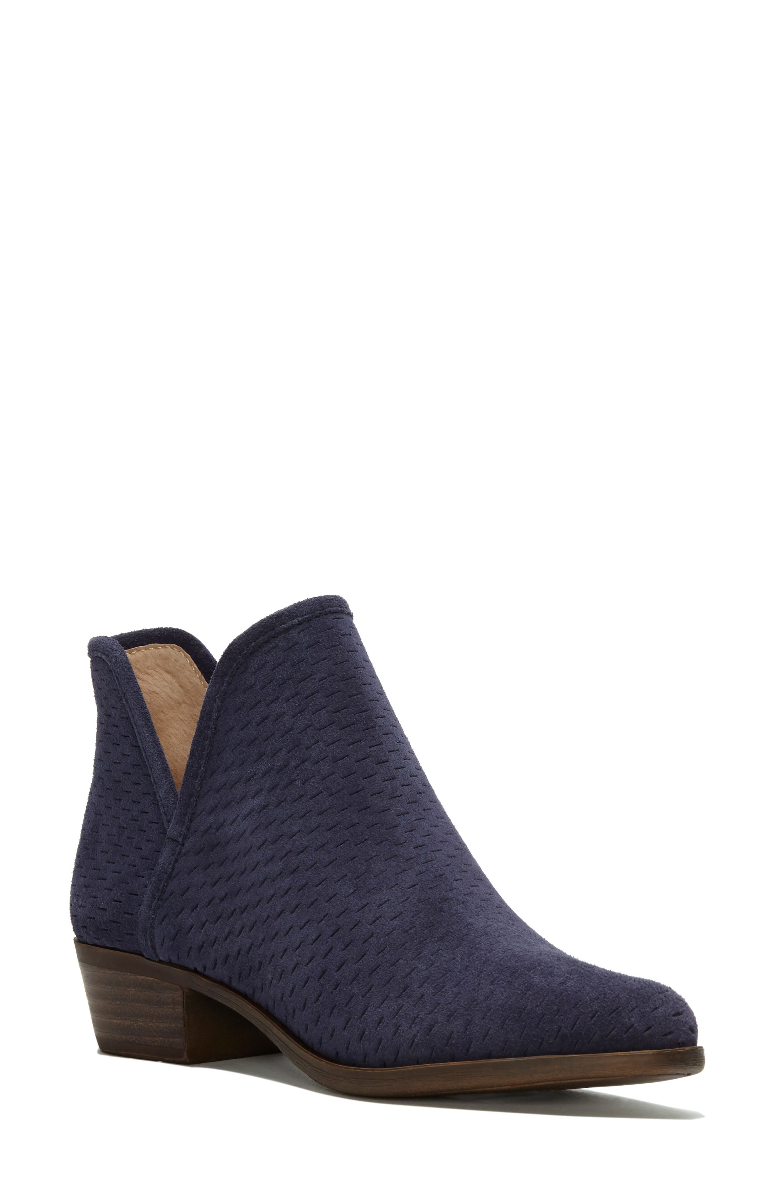 Baley Bootie,                             Main thumbnail 1, color,                             MOROCCAN BLUE SUEDE