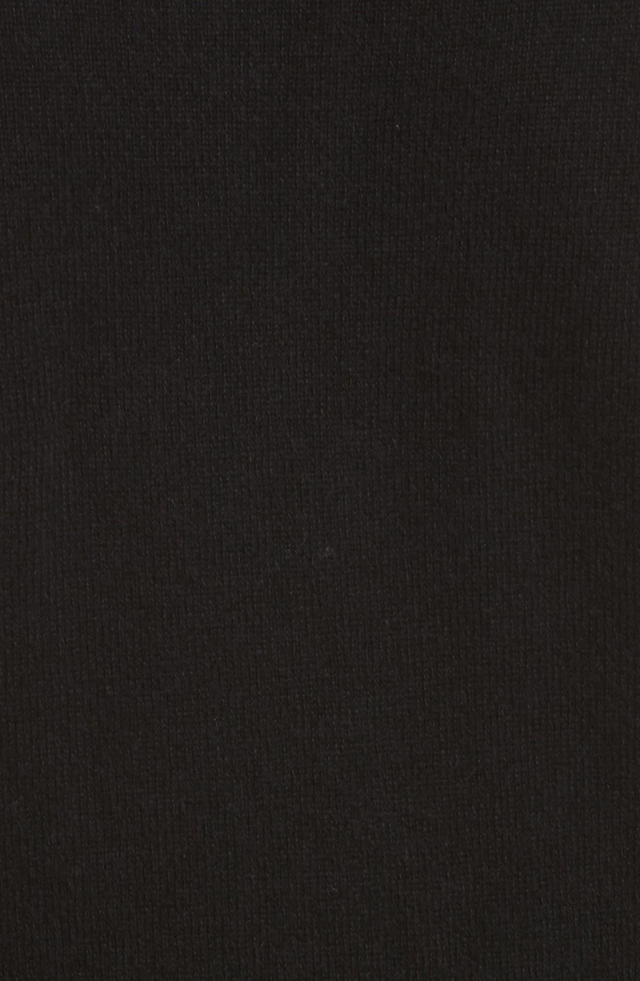 Cashmere Cold Shoulder Turtleneck Sweater Dress,                             Alternate thumbnail 9, color,