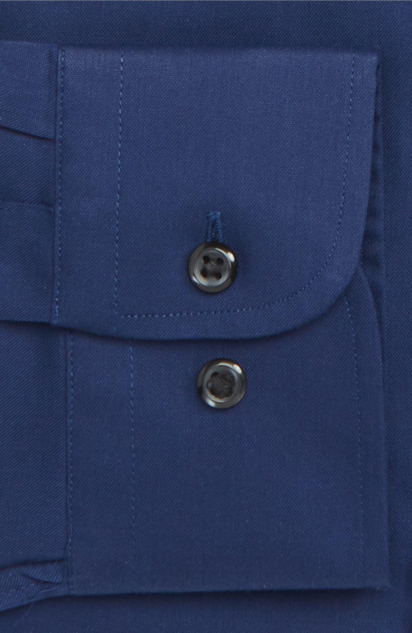 Nordstrom Mens Shop Extra Trim Fit Non Iron Solid Dress Shirt