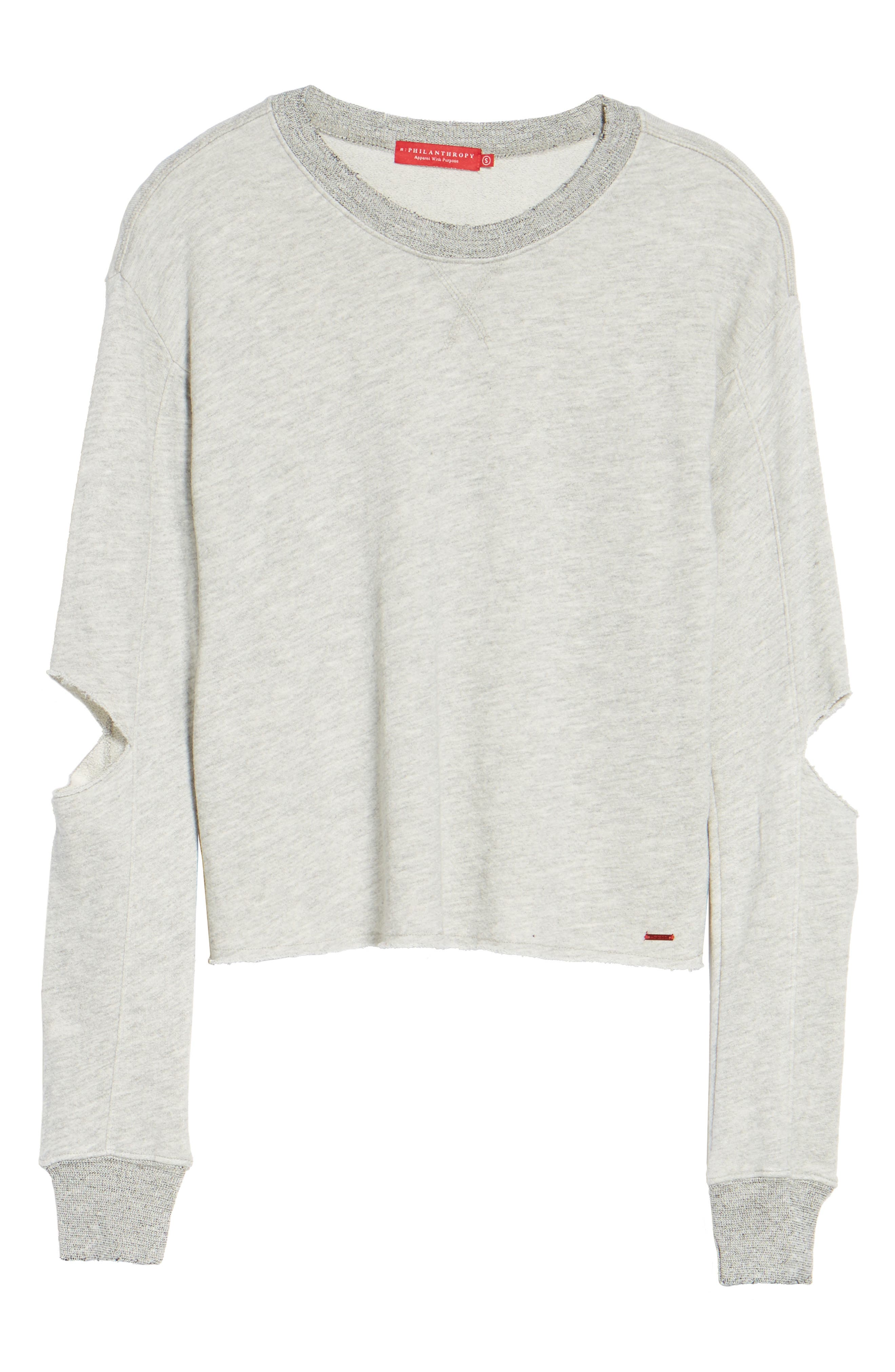 Savannah Cutout Sweatshirt,                             Alternate thumbnail 6, color,                             030