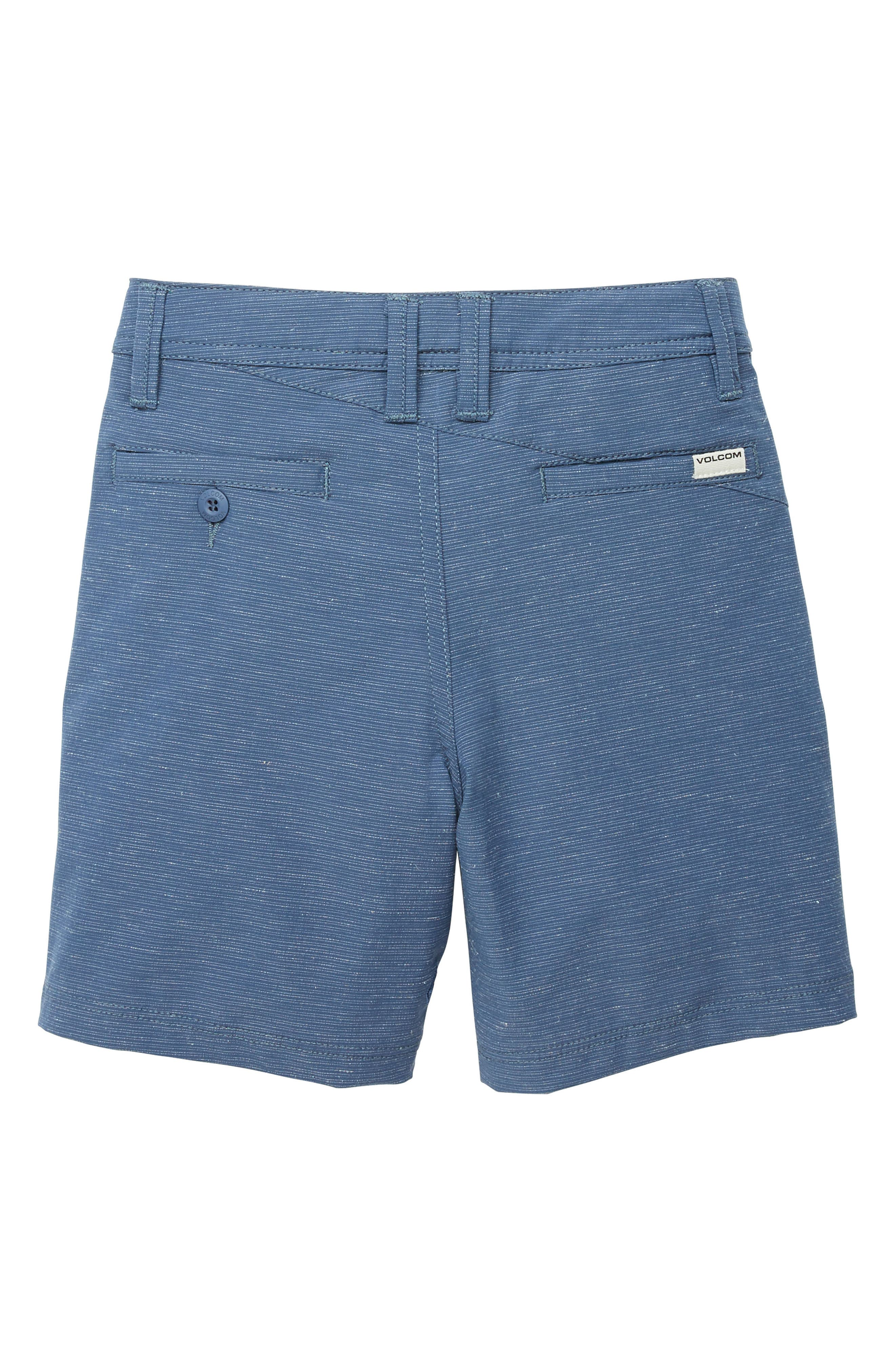Surf N' Turf Slub Hybrid Shorts,                             Alternate thumbnail 2, color,                             DEEP WATER