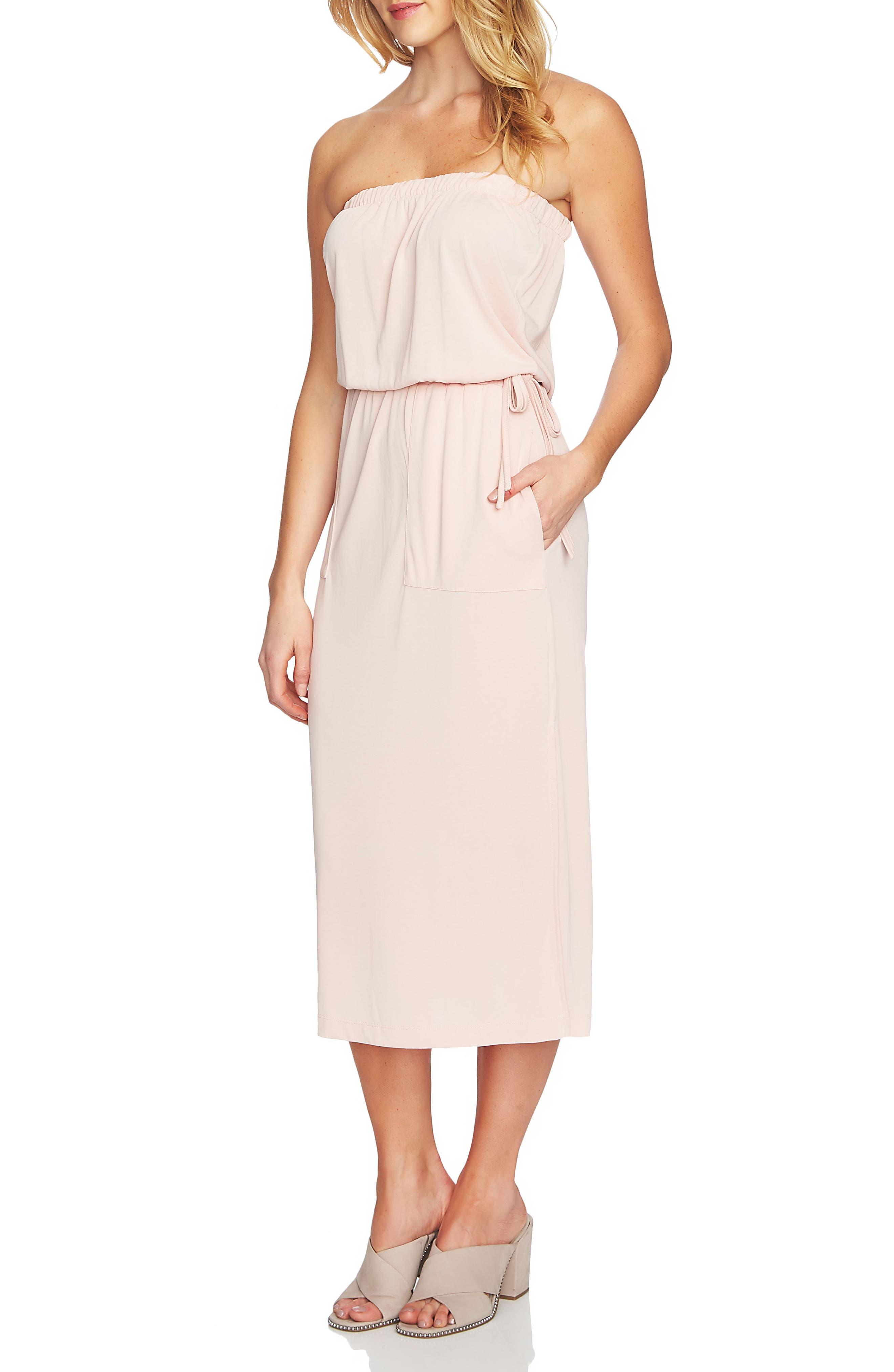 Strapless Maxi Dress,                             Main thumbnail 4, color,