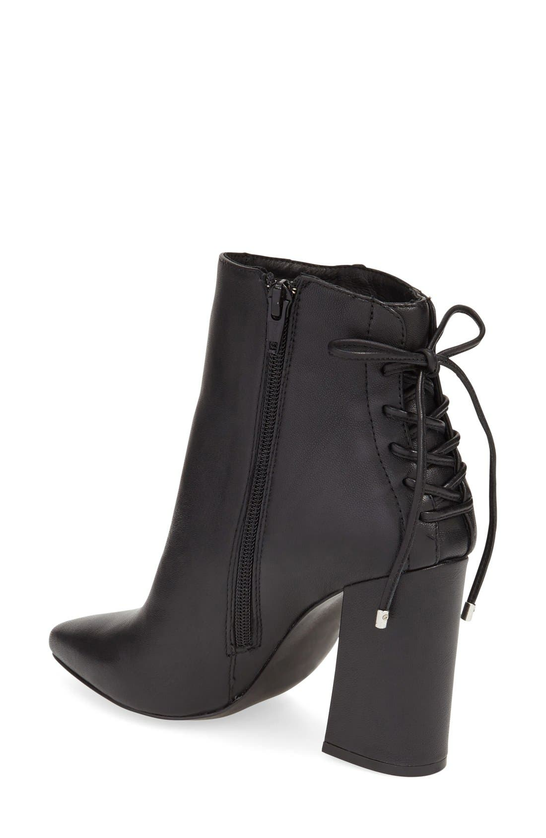 'Siren' Pointy Toe Bootie,                             Alternate thumbnail 2, color,                             001