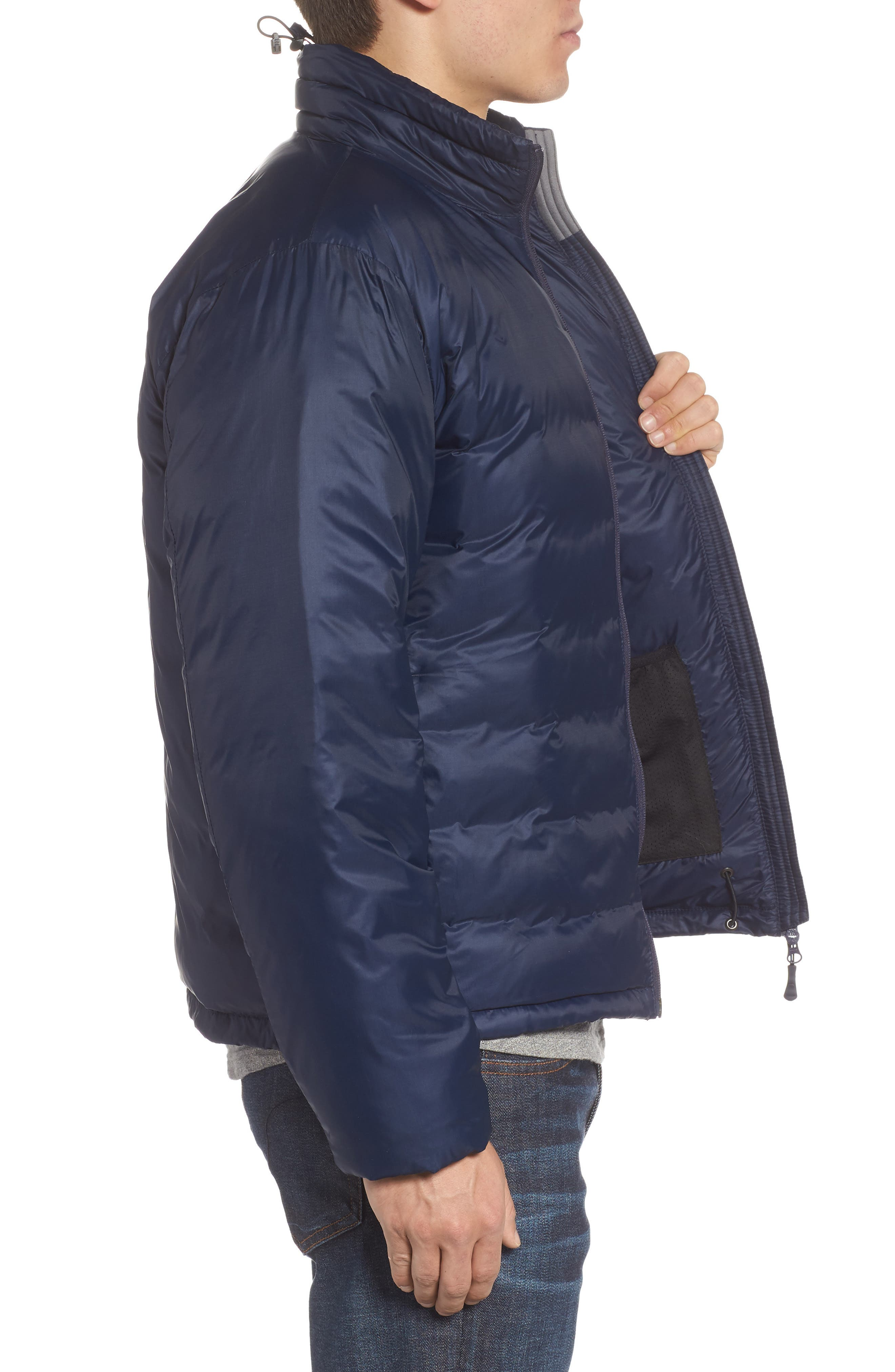 'Lodge' Slim Fit Packable Windproof 750 Down Fill Jacket,                             Alternate thumbnail 3, color,                             ADMIRAL BLUE/ BLACK