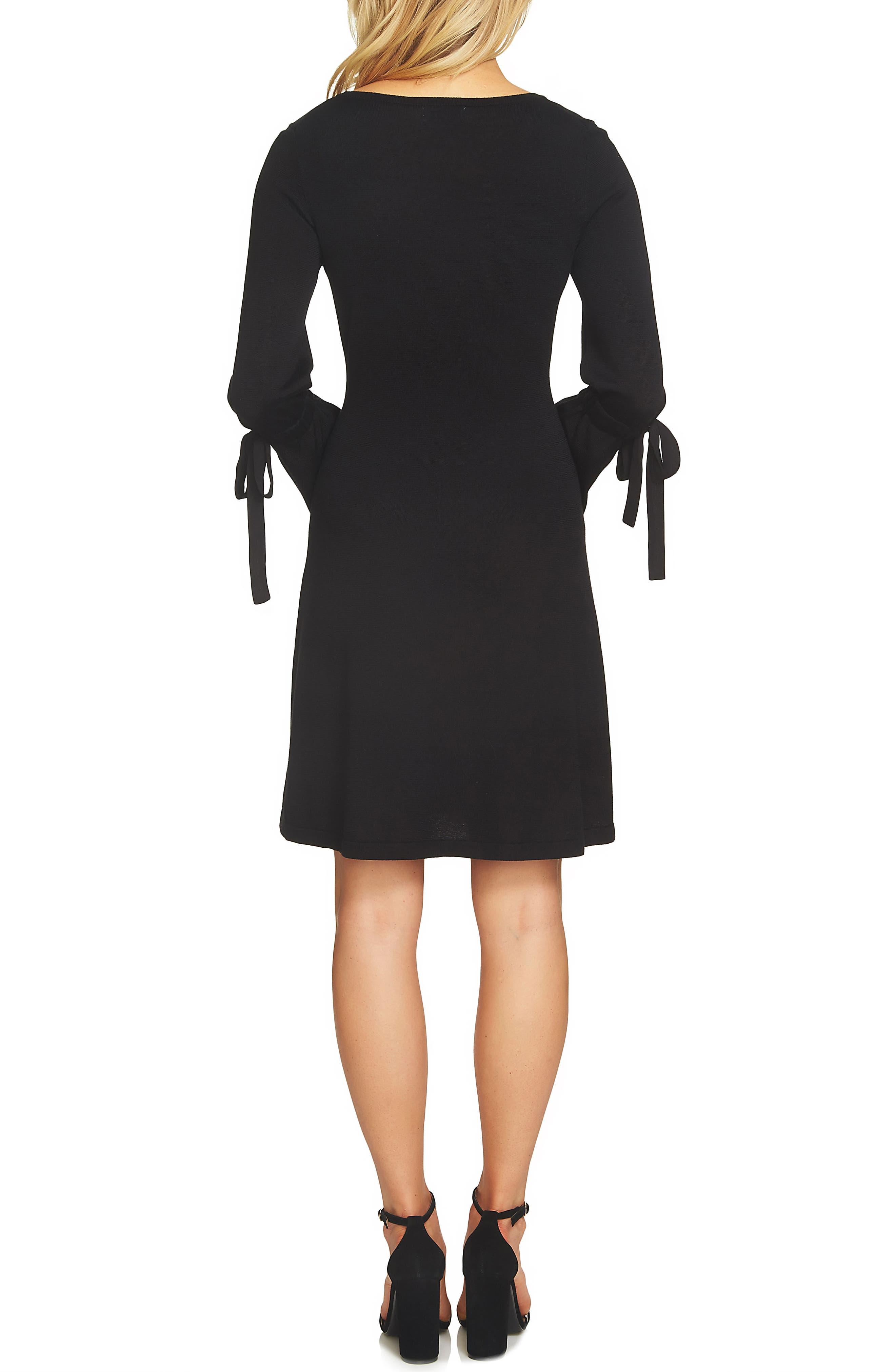 Bell Sleeve Sweater Dress,                             Alternate thumbnail 2, color,                             006