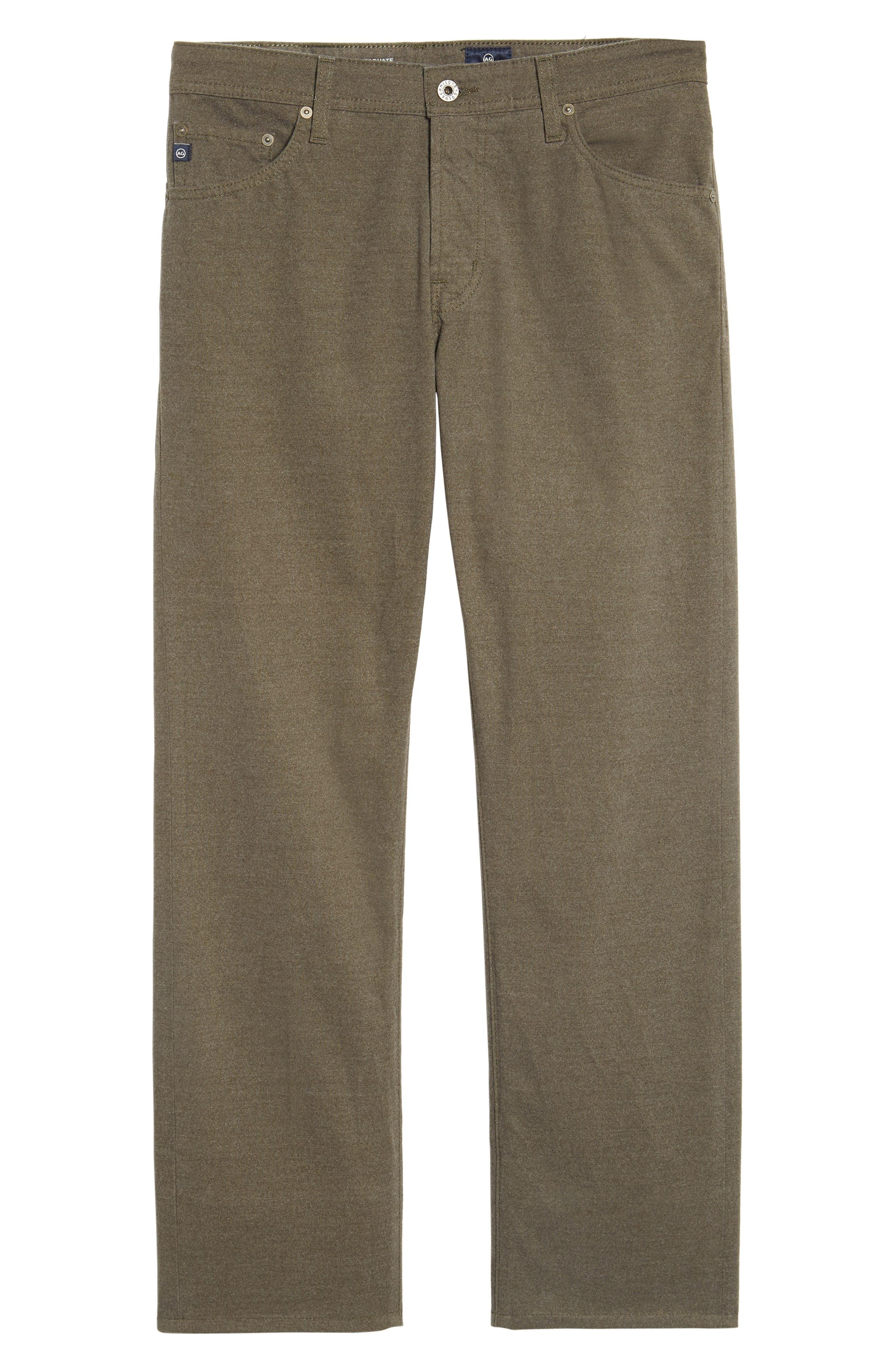 Graduate Tailored Five-Pocket Straight Leg Pants,                             Alternate thumbnail 6, color,                             CLIMBING IVY