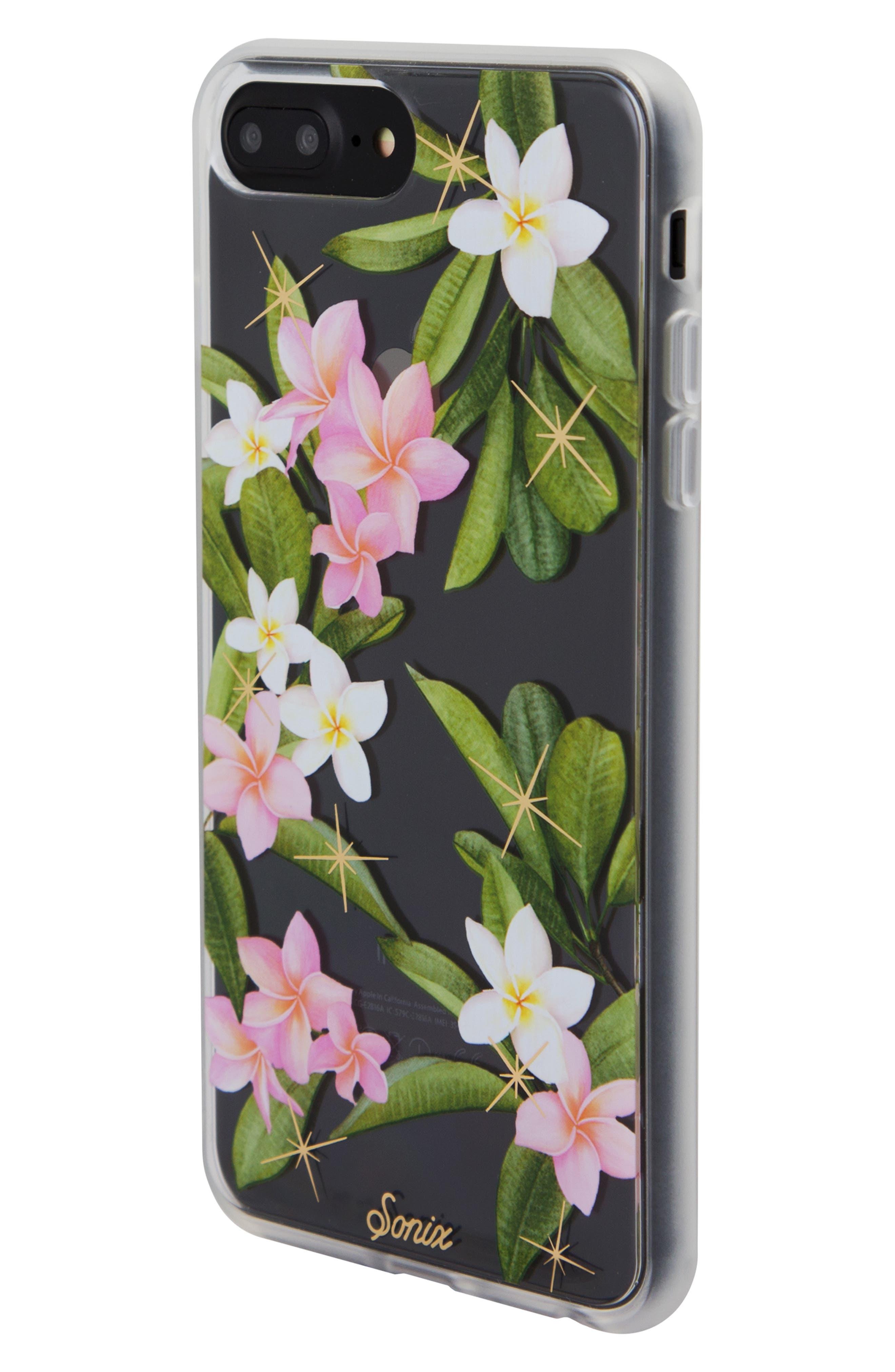 Plumeria iPhone X/Xs, XR & X Max Case,                             Alternate thumbnail 2, color,                             WHITE