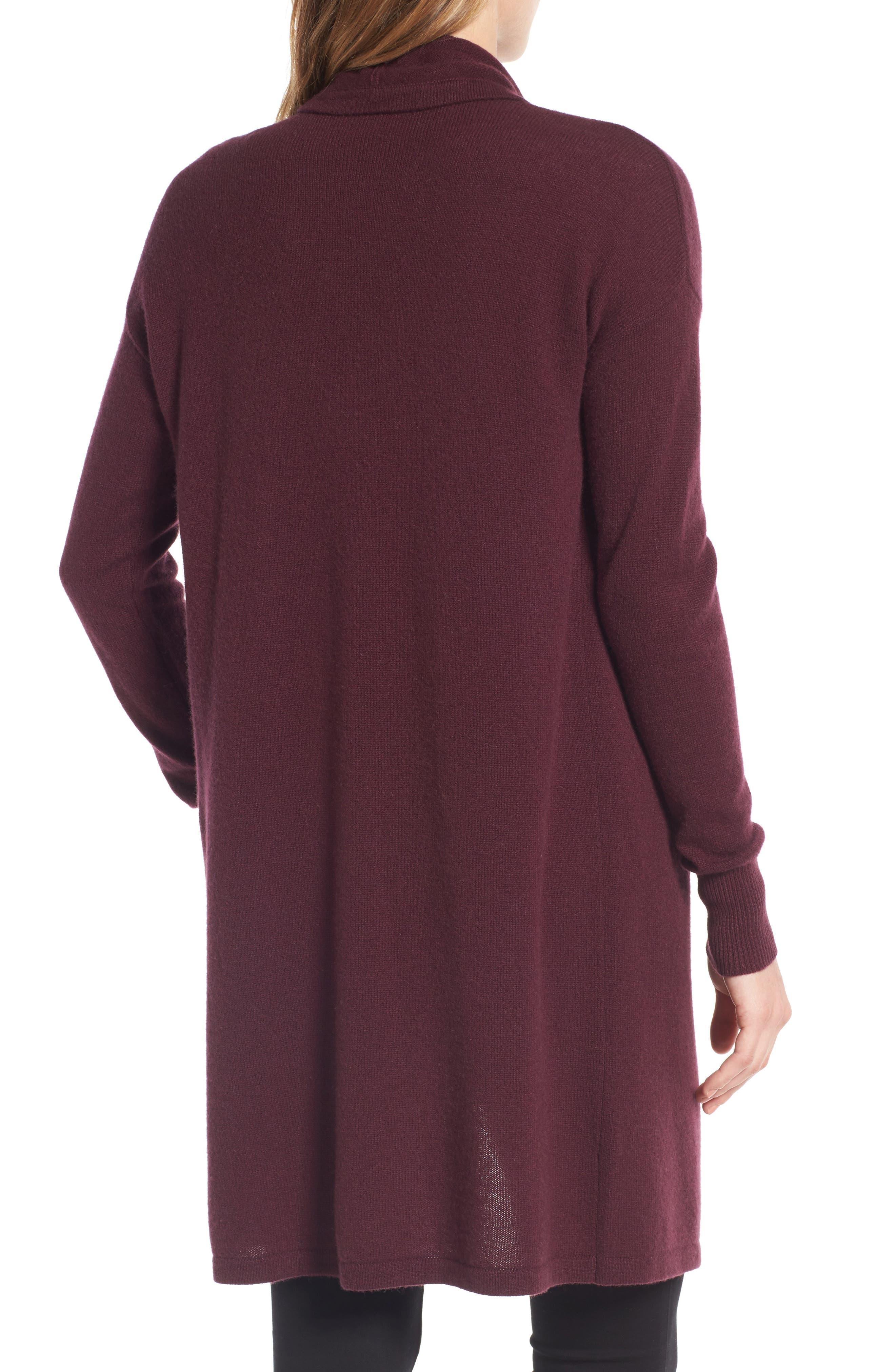Cashmere Long Drape Front Cardigan,                             Alternate thumbnail 16, color,