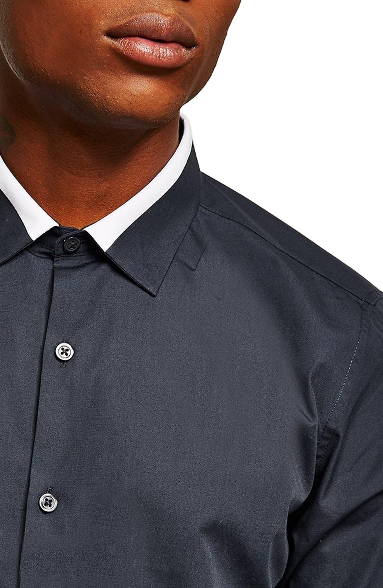 Slim Fit Panel Collar Shirt,                             Alternate thumbnail 2, color,                             411