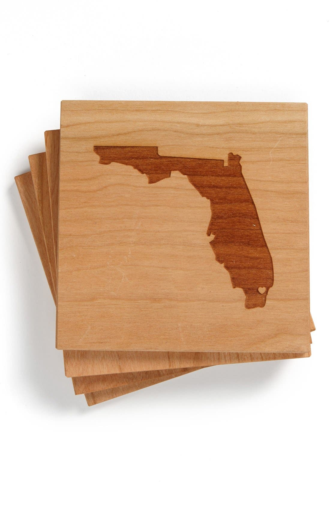 'State Silhouette' Coasters,                             Main thumbnail 7, color,