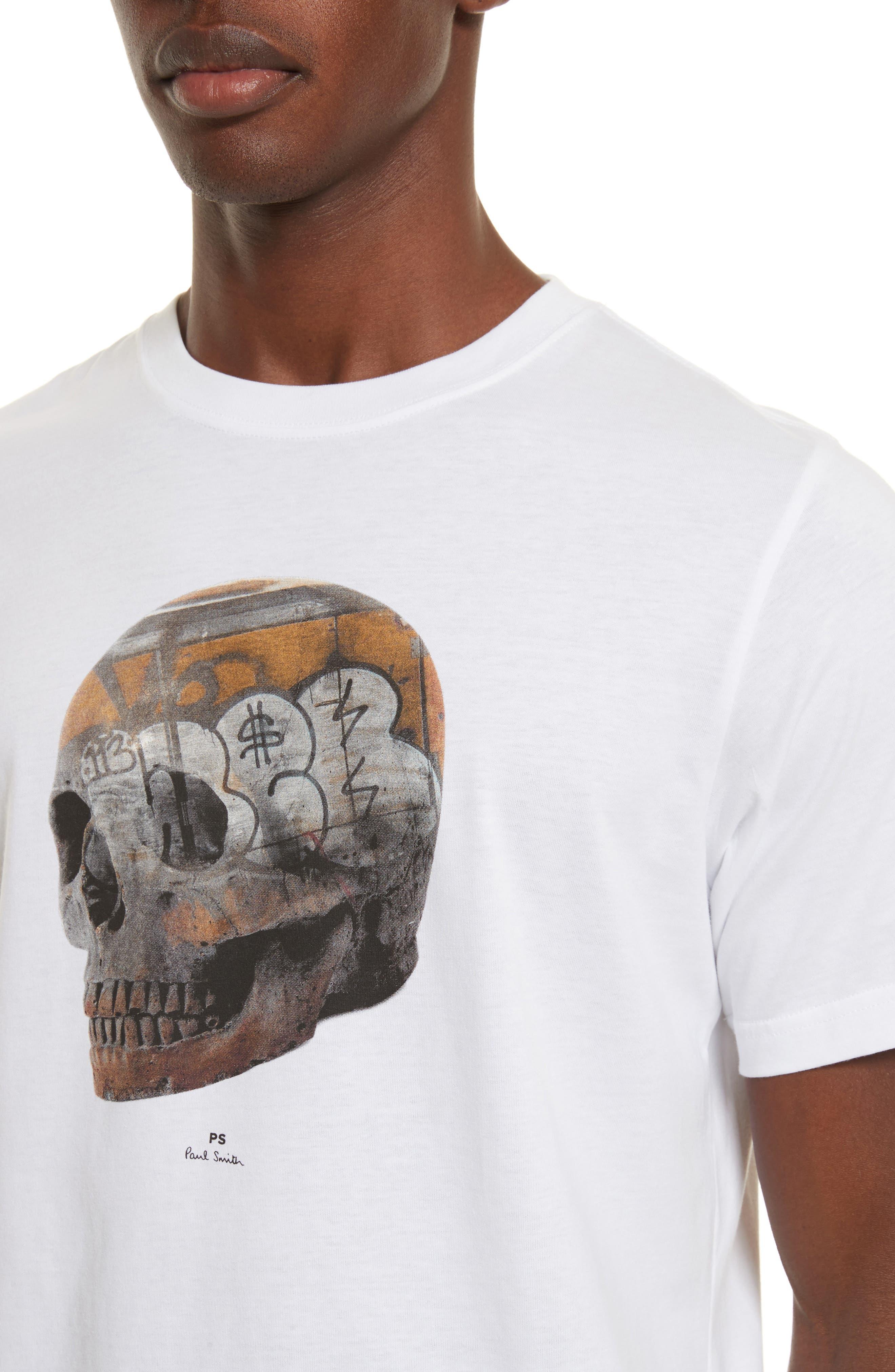 Skull Graphic T-Shirt,                             Alternate thumbnail 4, color,