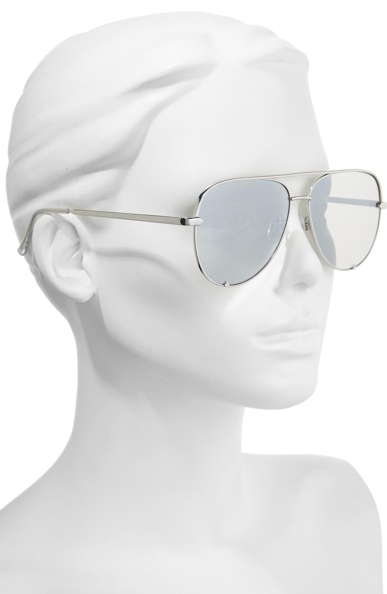 x Desi Perkins High Key 62mm Aviator Sunglasses,                             Alternate thumbnail 2, color,                             SILVER/ SILVER
