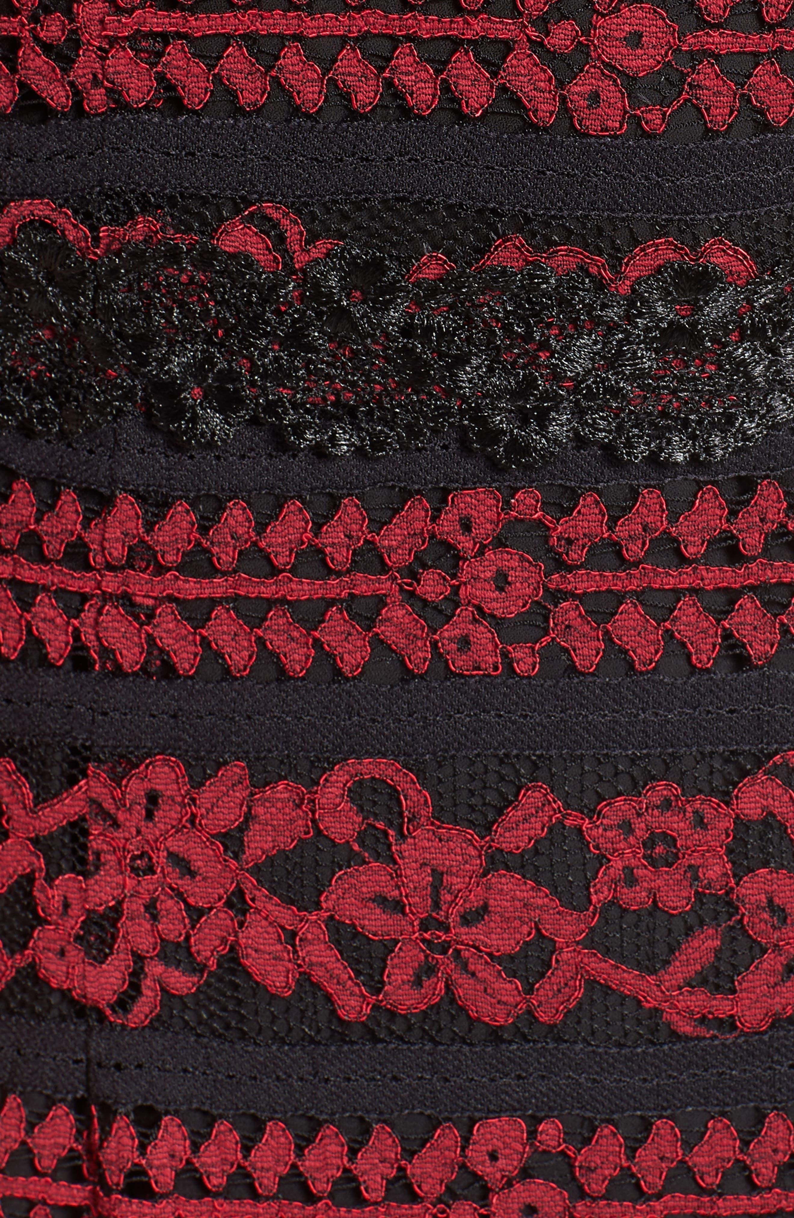 Stella Off the Shoulder Lace Midi Dress,                             Alternate thumbnail 5, color,                             649
