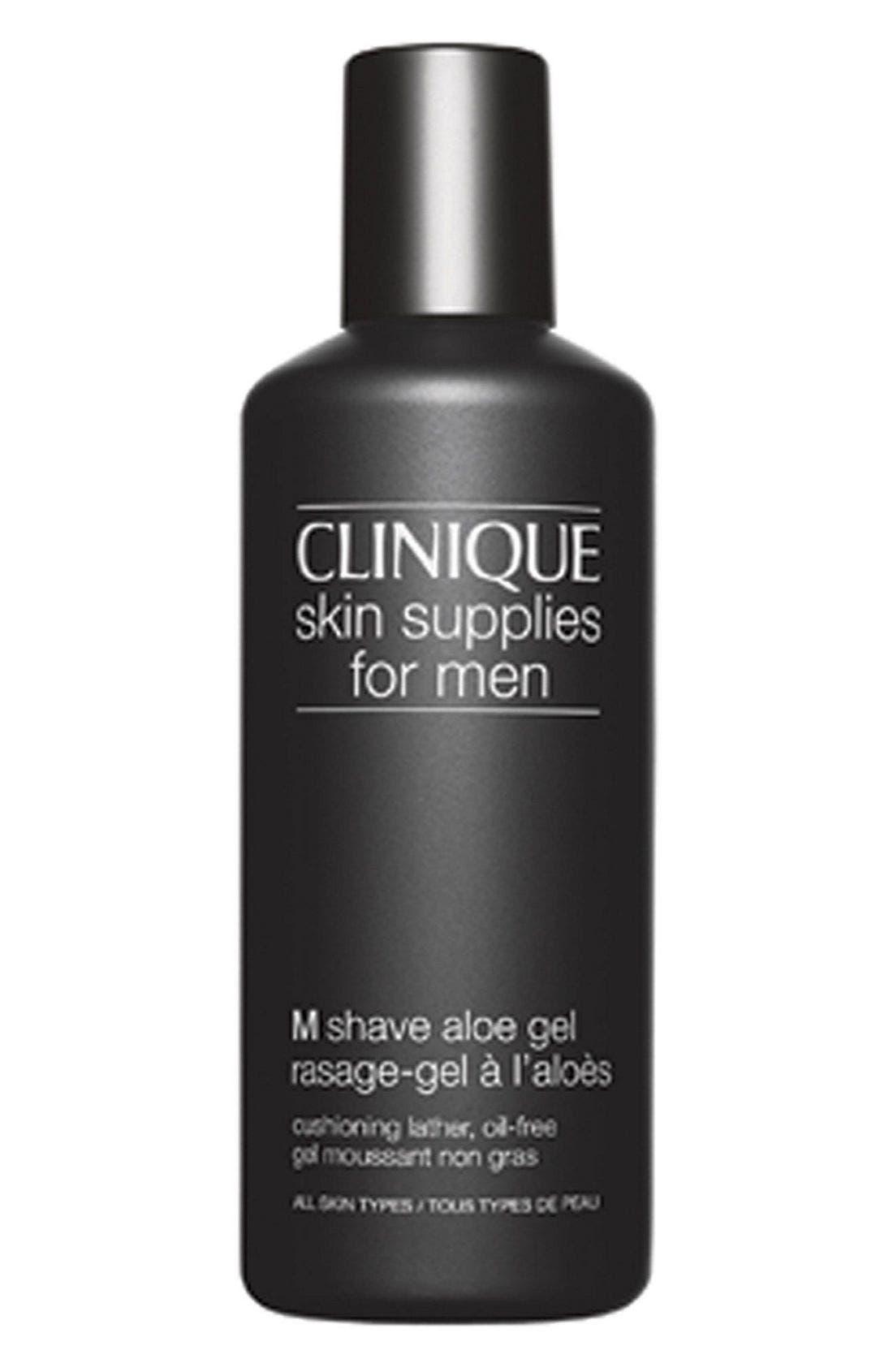 CLINIQUE,                             Skin Supplies for Men M Shave Aloe Gel,                             Main thumbnail 1, color,                             000