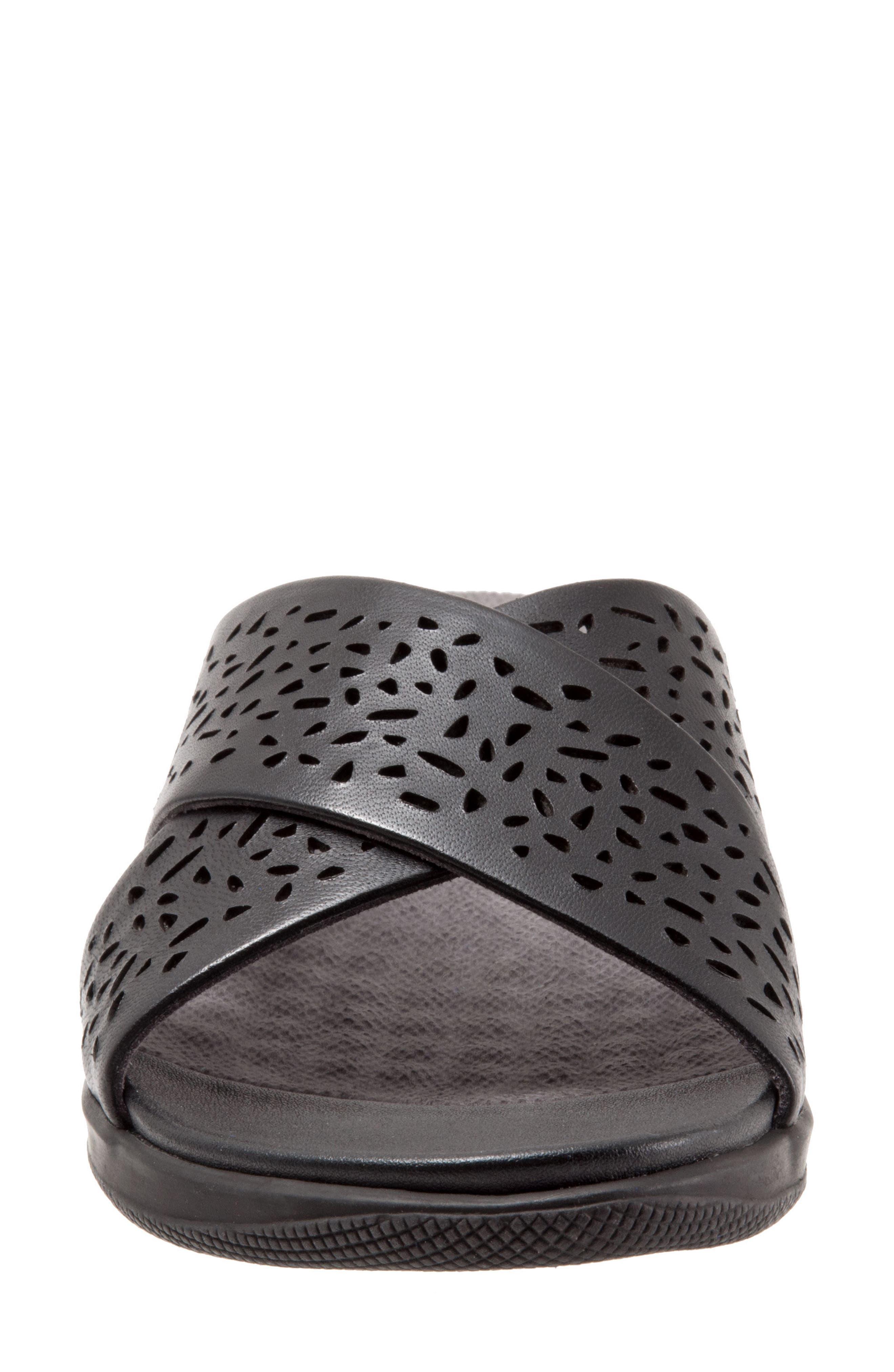 'Tillman' Leather Cross Strap Slide Sandal,                             Alternate thumbnail 4, color,                             006