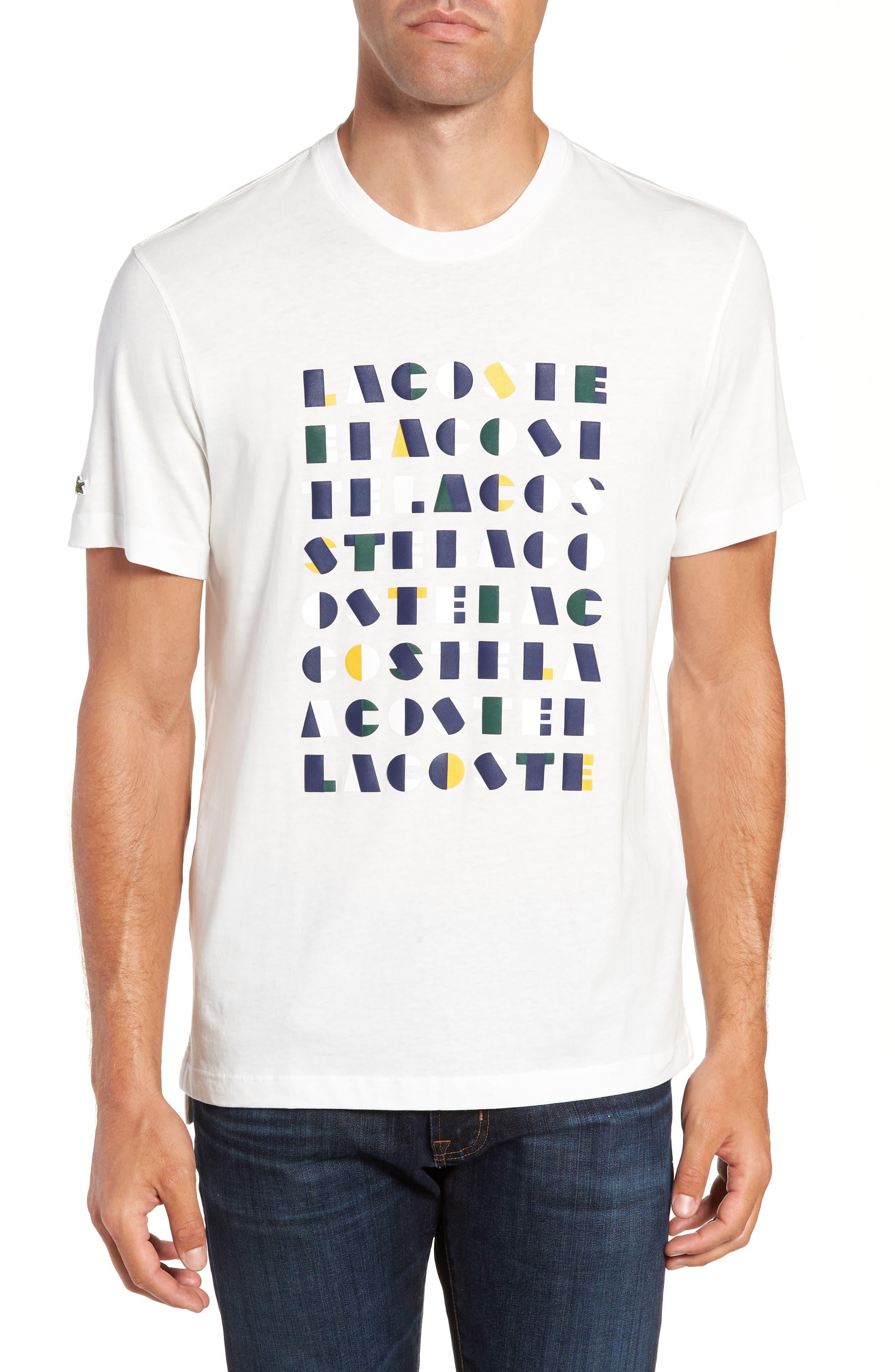 LACOSTE,                             Letter Graphic T-Shirt,                             Main thumbnail 1, color,                             104