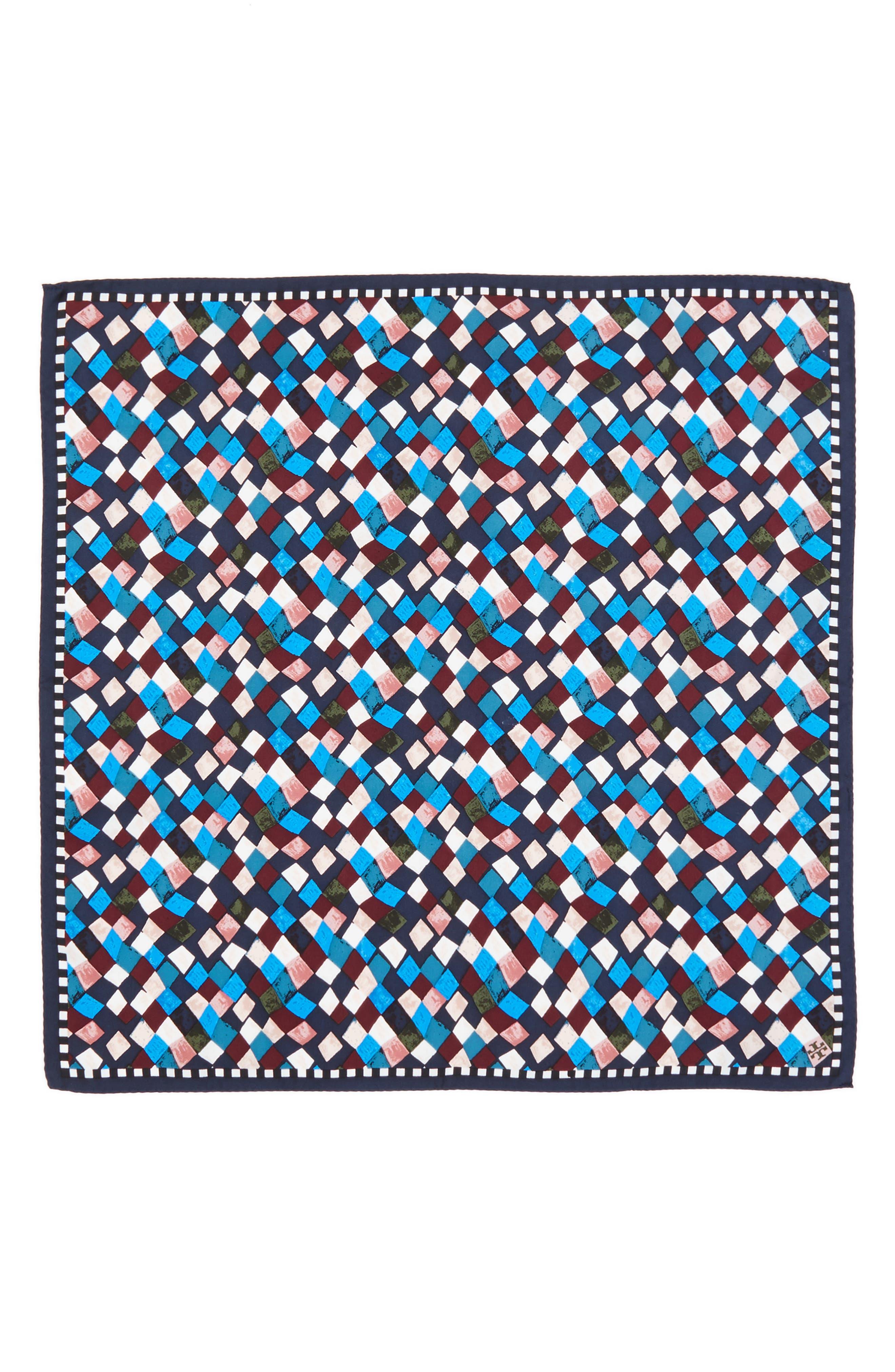 Prism Print Silk Neckerchief,                             Alternate thumbnail 3, color,                             405
