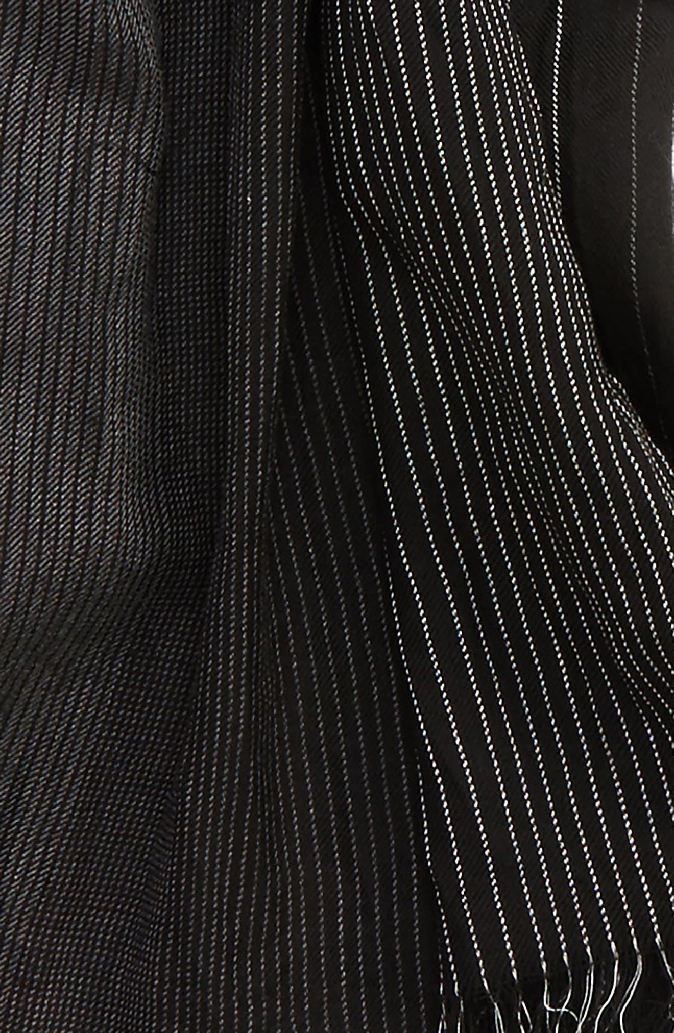 Ombré Cotton & Silk Scarf,                             Alternate thumbnail 3, color,