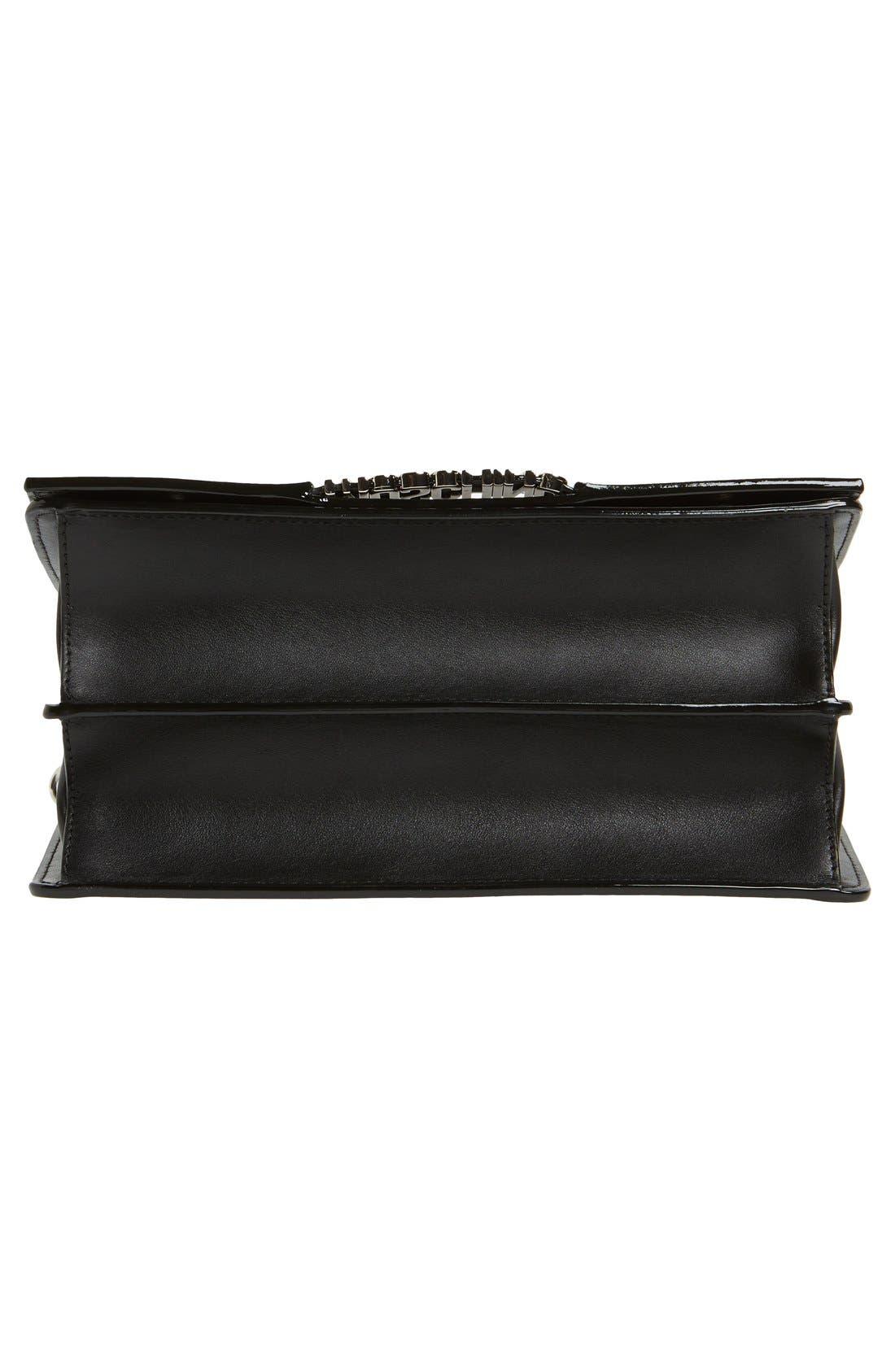 Top Handle Leather Crossbody Bag,                             Alternate thumbnail 6, color,                             001