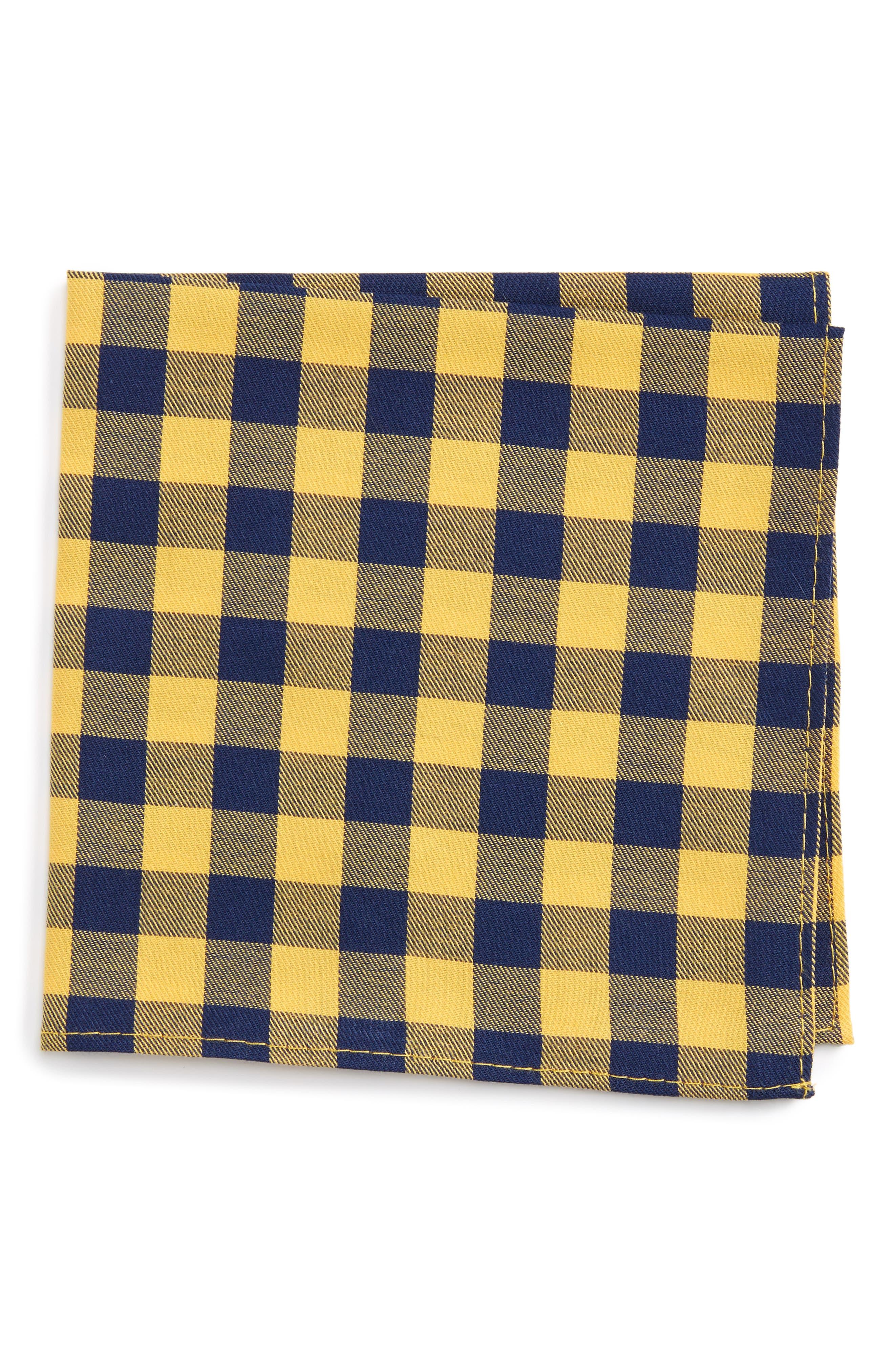Buffalo Check Cotton Pocket Square,                             Main thumbnail 1, color,                             715