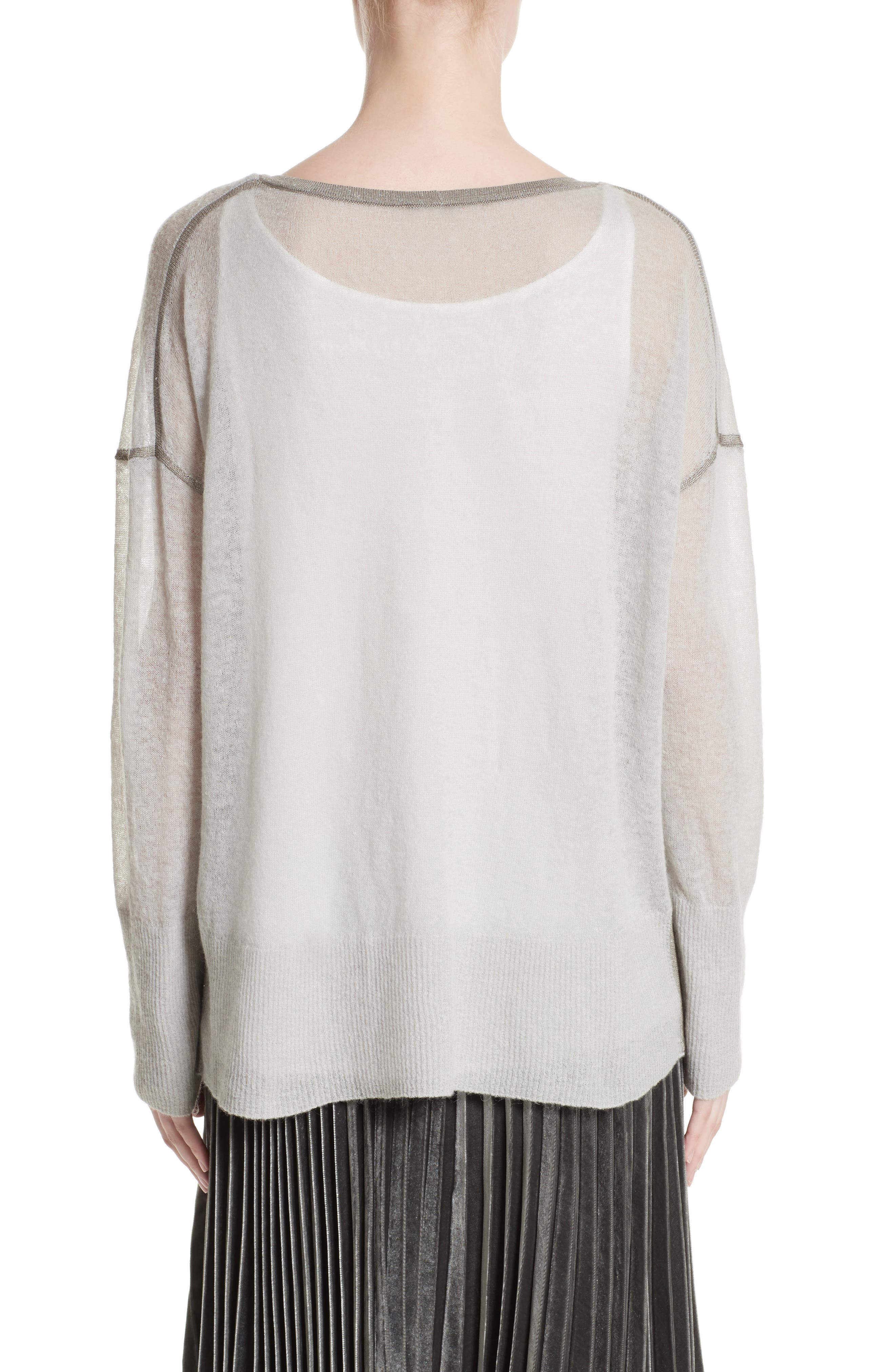 Sequin Trim Sweater with Tank,                             Alternate thumbnail 2, color,                             020