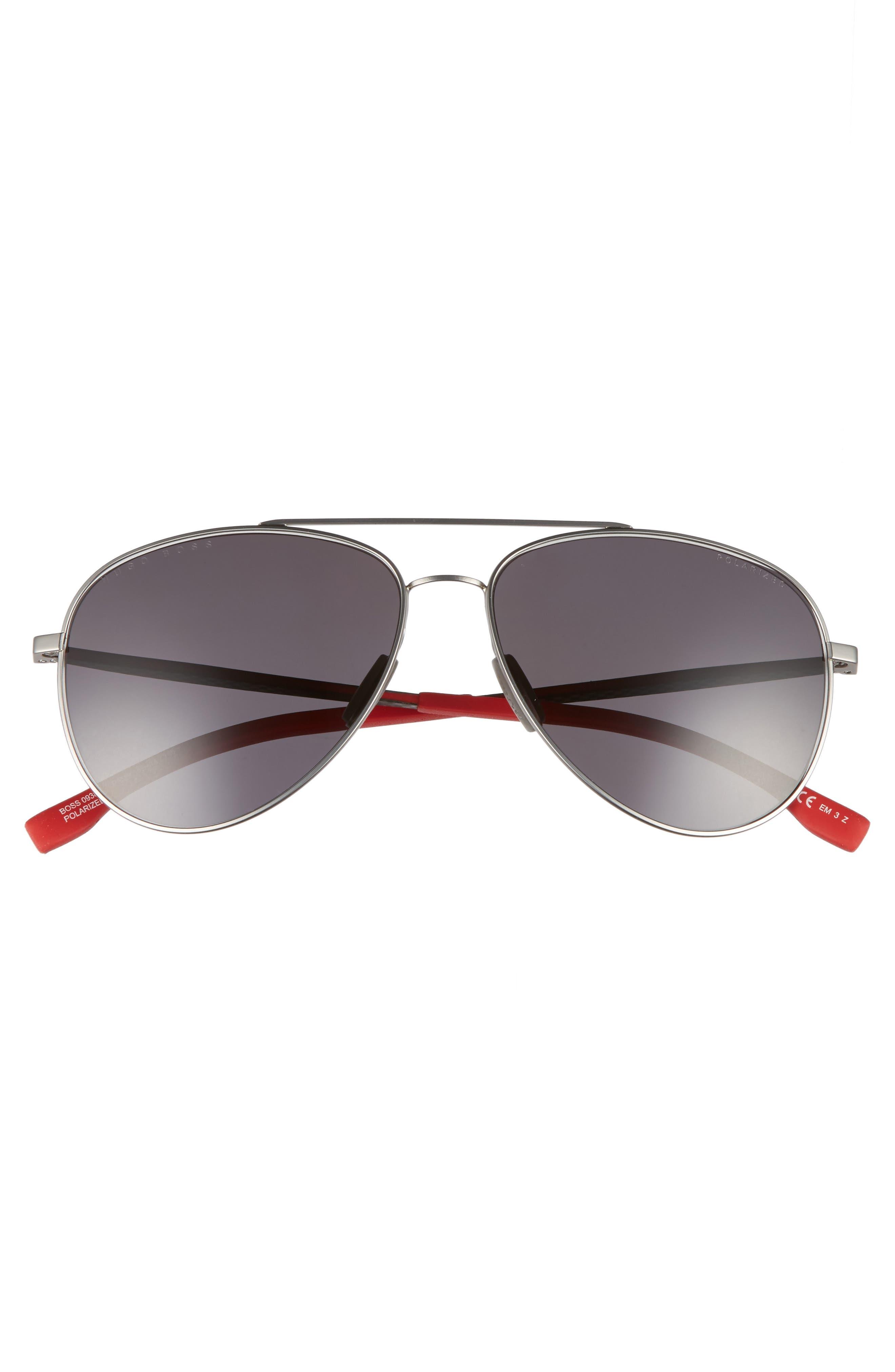 59mm Aviator Sunglasses,                             Alternate thumbnail 2, color,                             GREY RUBBER/ GREY
