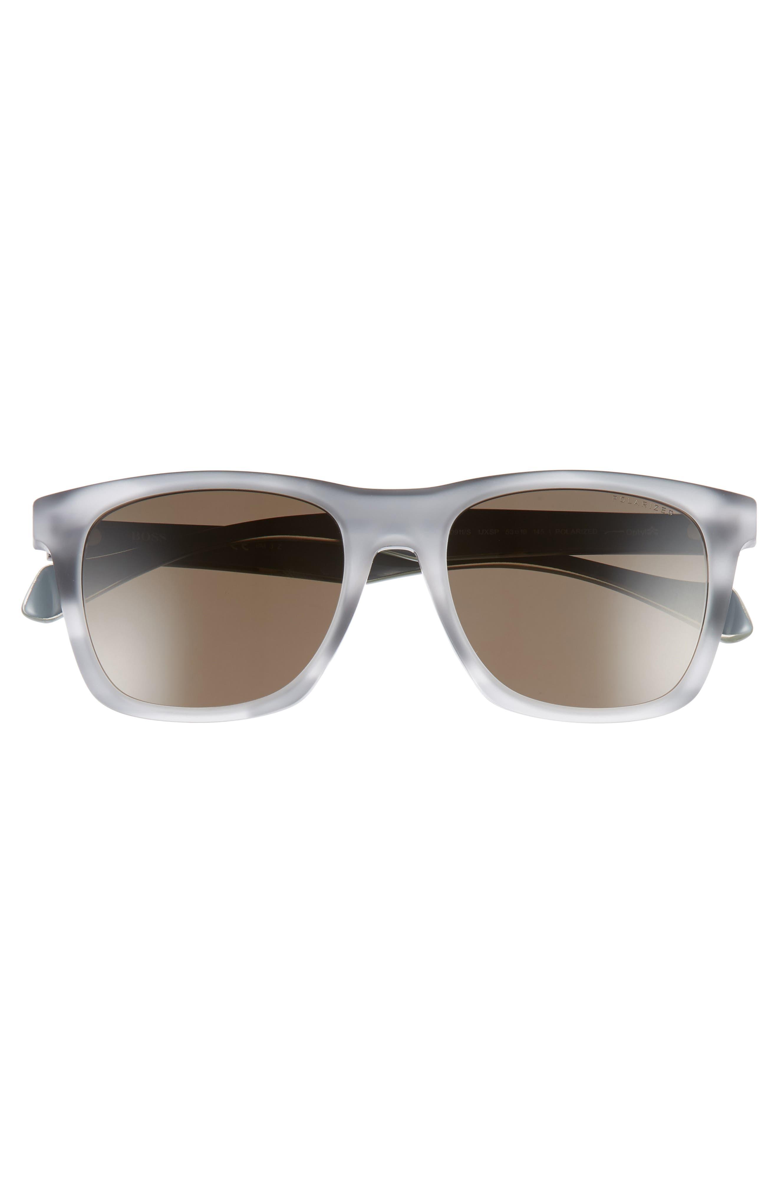 53mm Polarized Sunglasses,                             Alternate thumbnail 2, color,                             GREY/ BRONZE