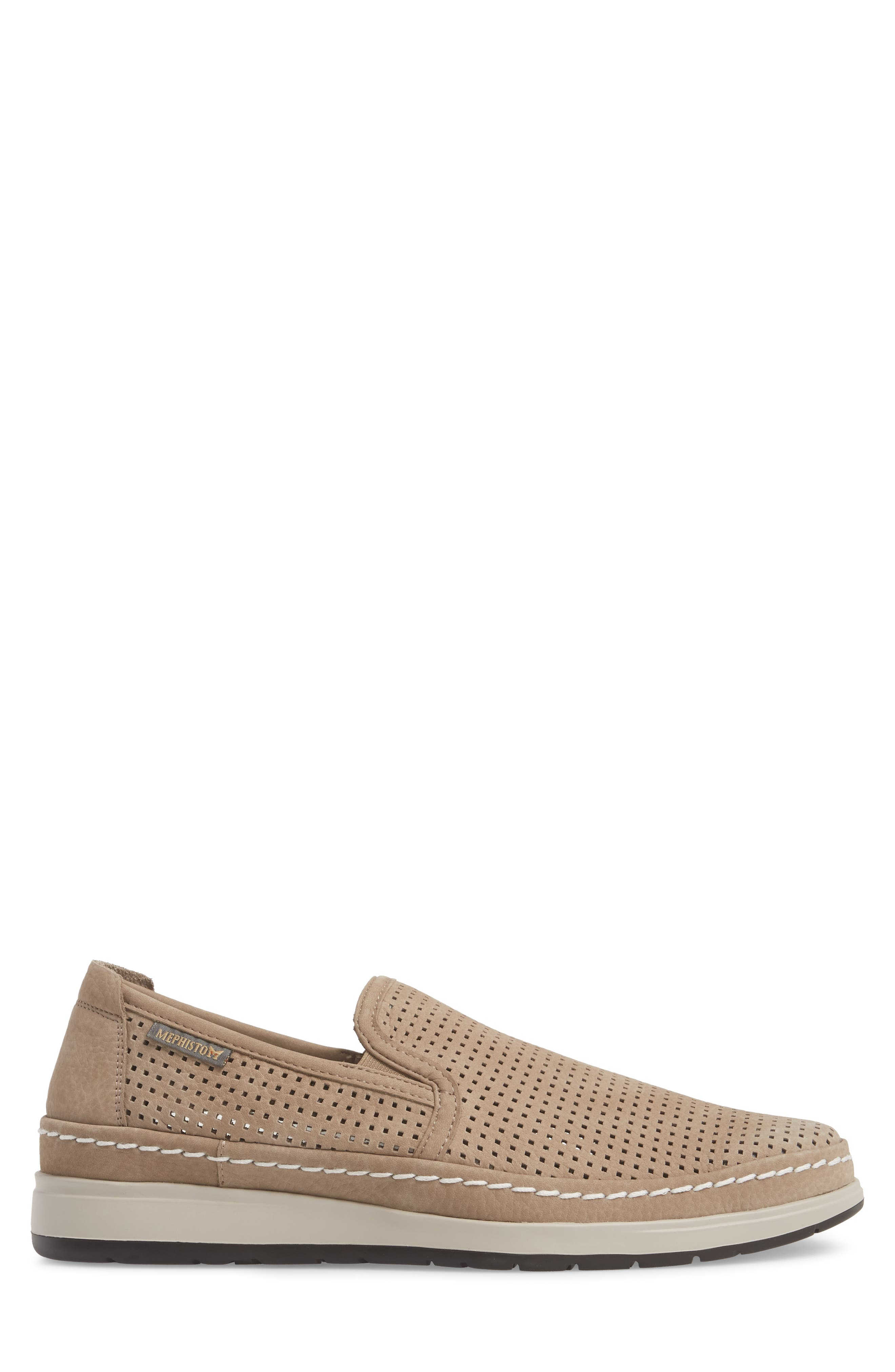 Hadrian Perforated Slip-On,                             Alternate thumbnail 3, color,                             SAND