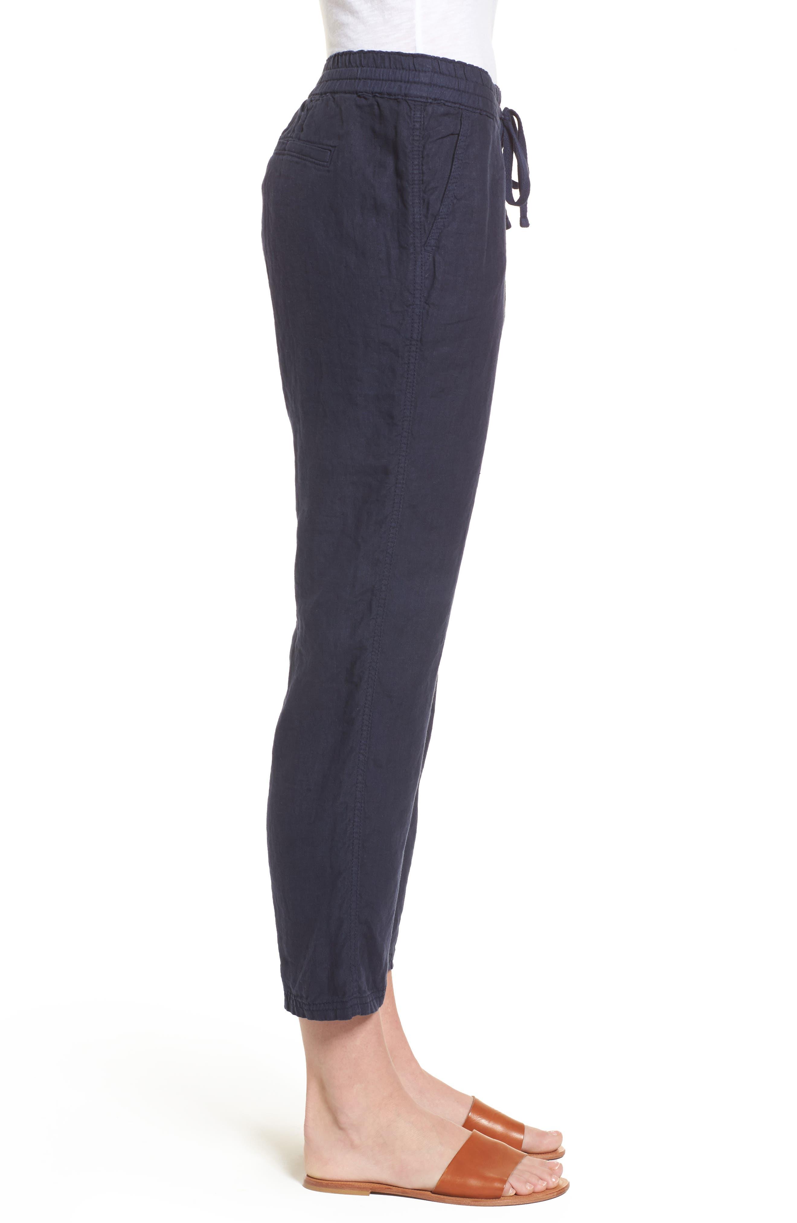 Linen Crop Pants,                             Alternate thumbnail 20, color,