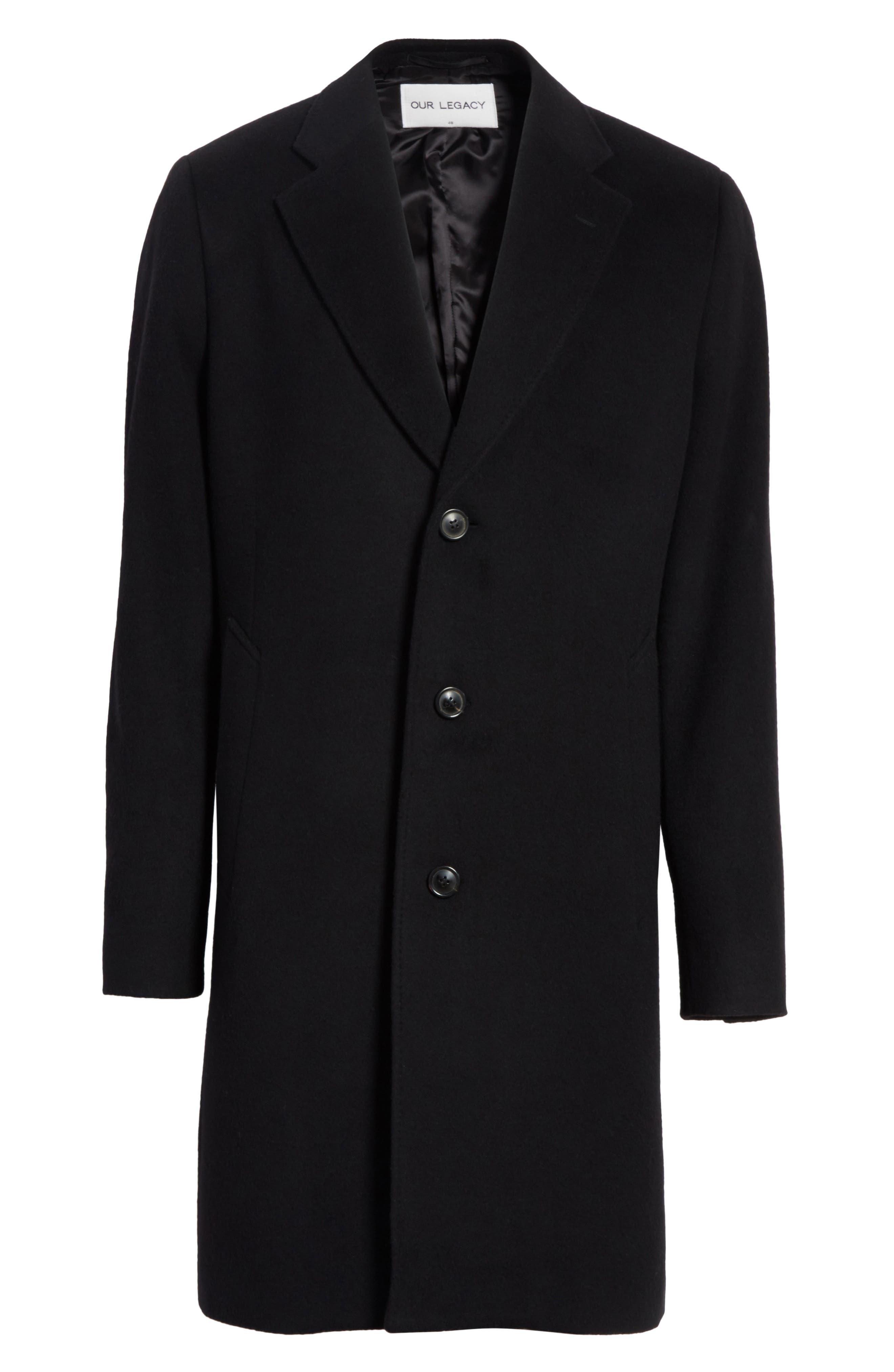Wool & Cashmere Car Coat,                             Alternate thumbnail 5, color,                             001