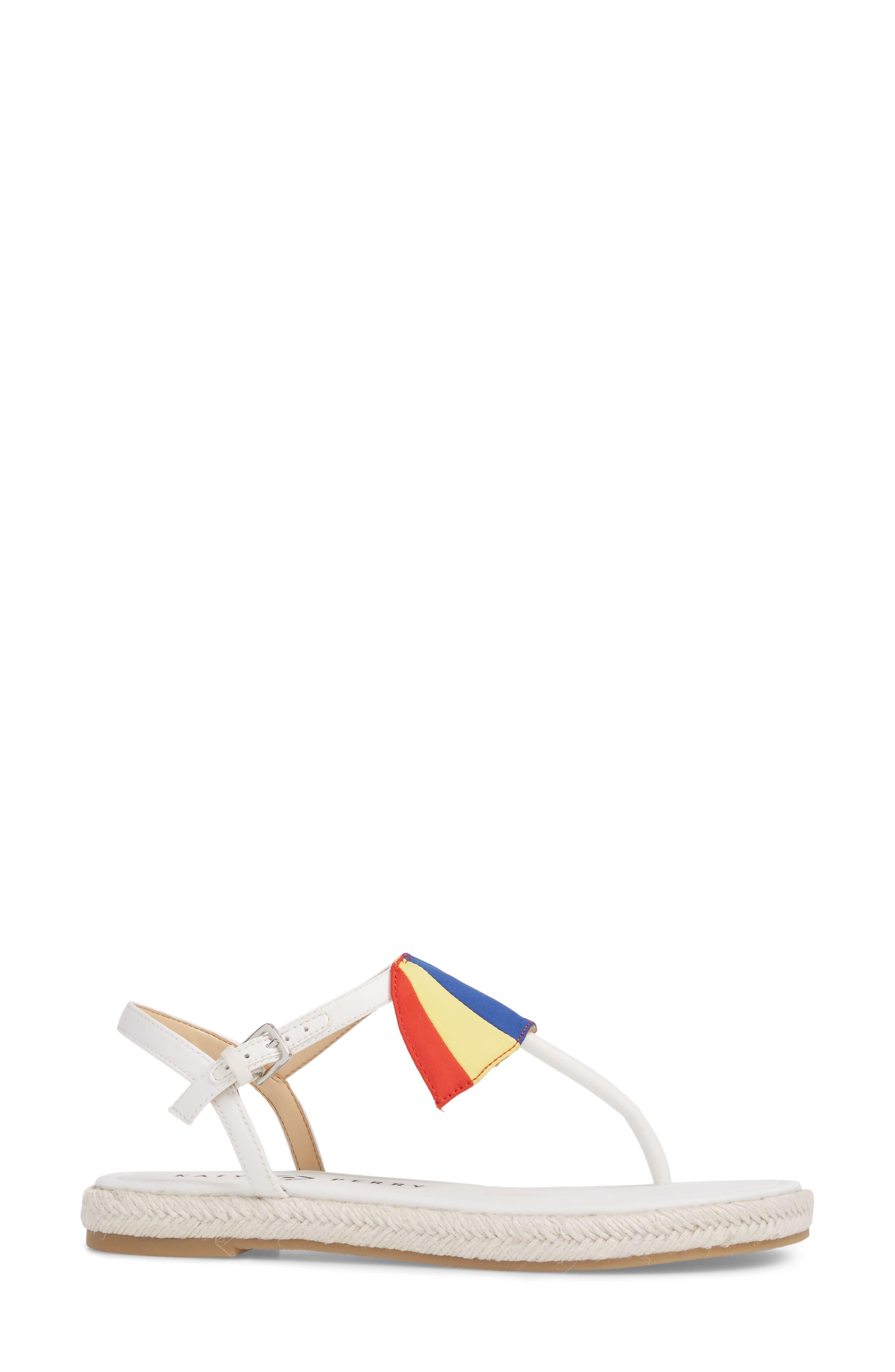 The Shay Espadrille Sandal,                             Alternate thumbnail 3, color,                             WHITE FABRIC