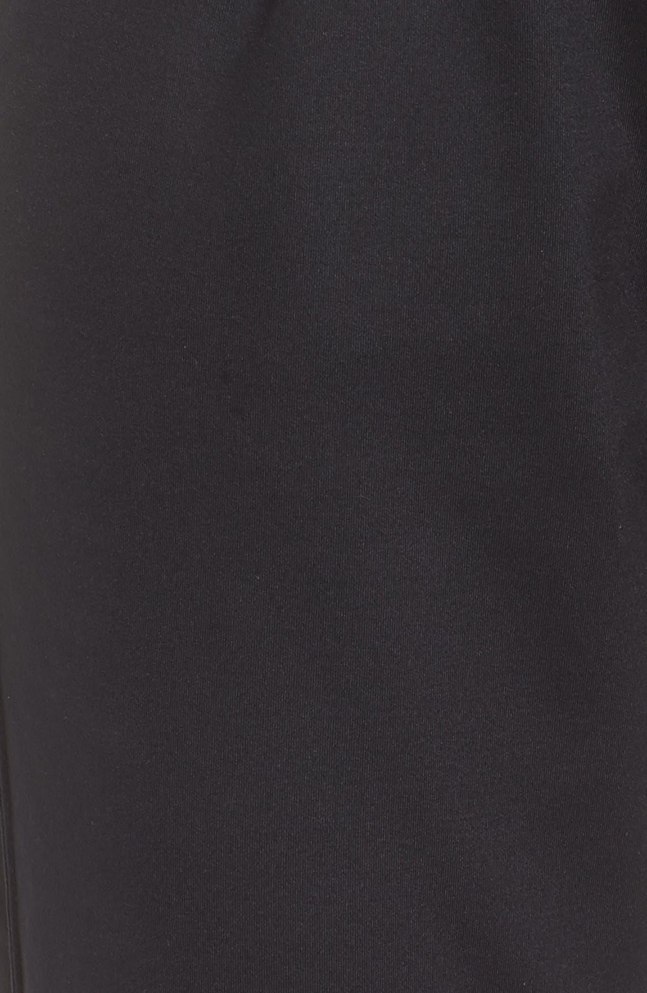 Taylor Slim Recycled Knit Jogger Pants,                             Alternate thumbnail 6, color,                             BLACK