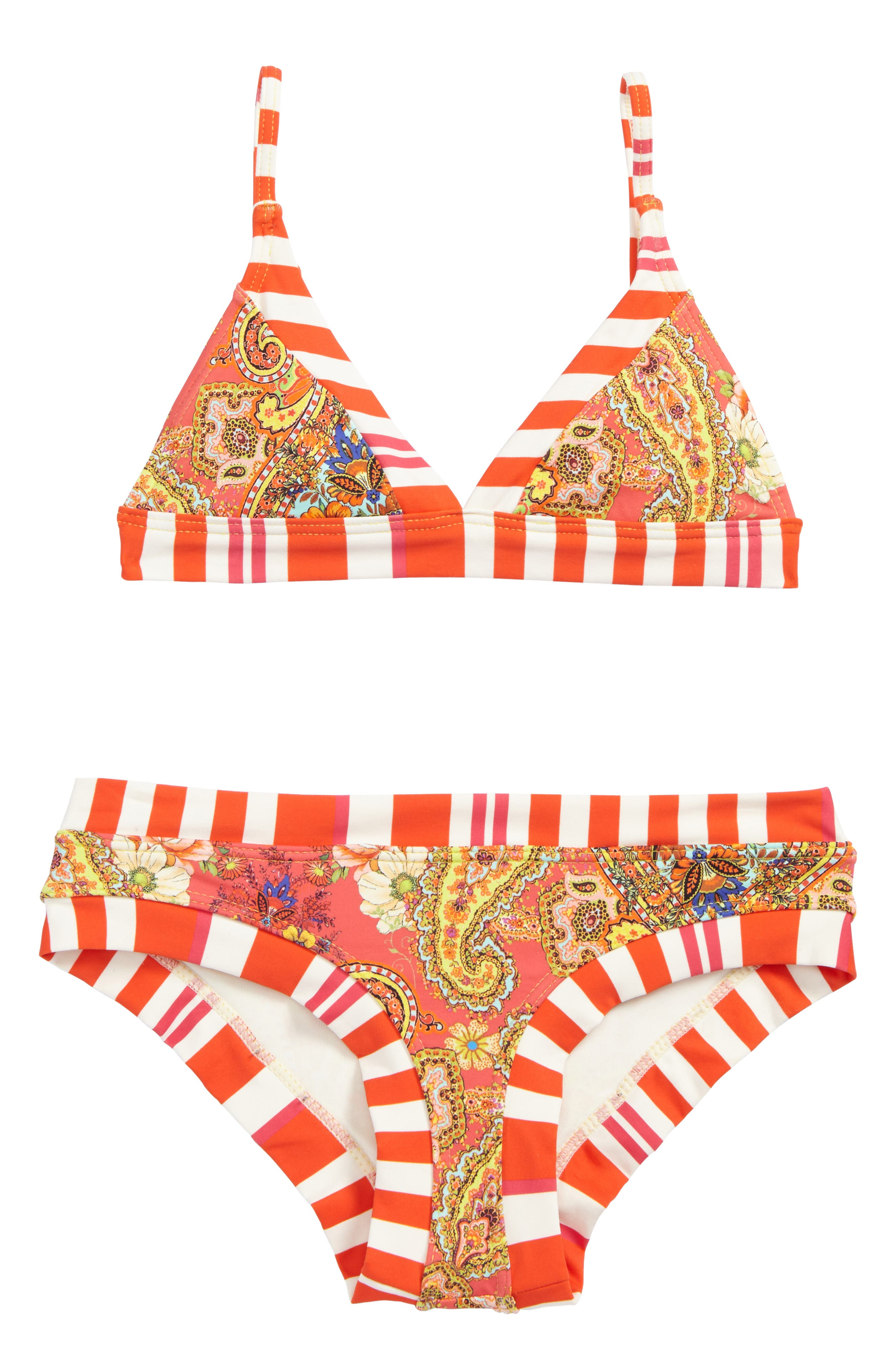 Camellia Two-Piece Swimsuit,                             Main thumbnail 1, color,                             600