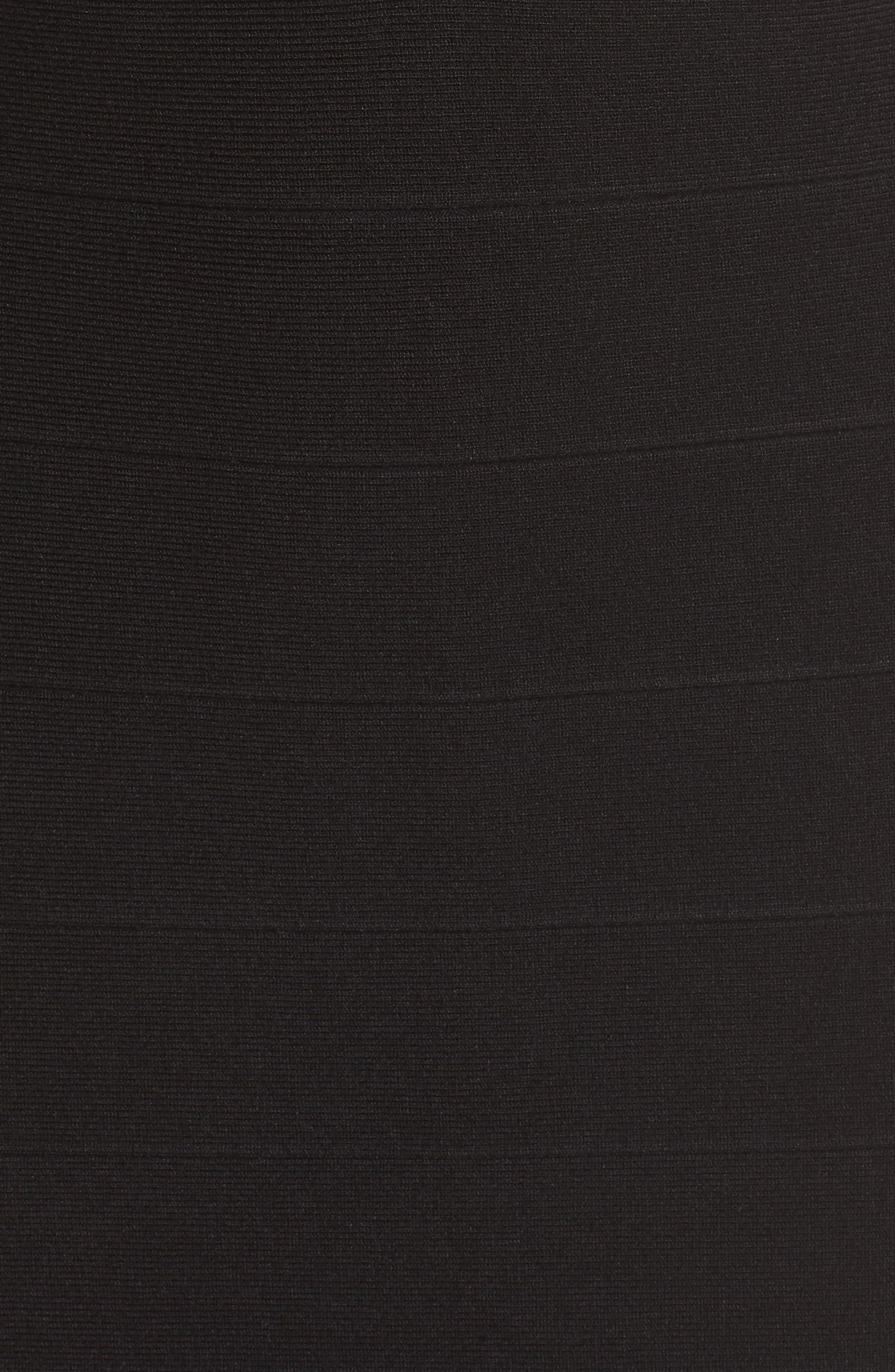 Shawl Collar Knit Sheath Dress,                             Alternate thumbnail 5, color,                             001