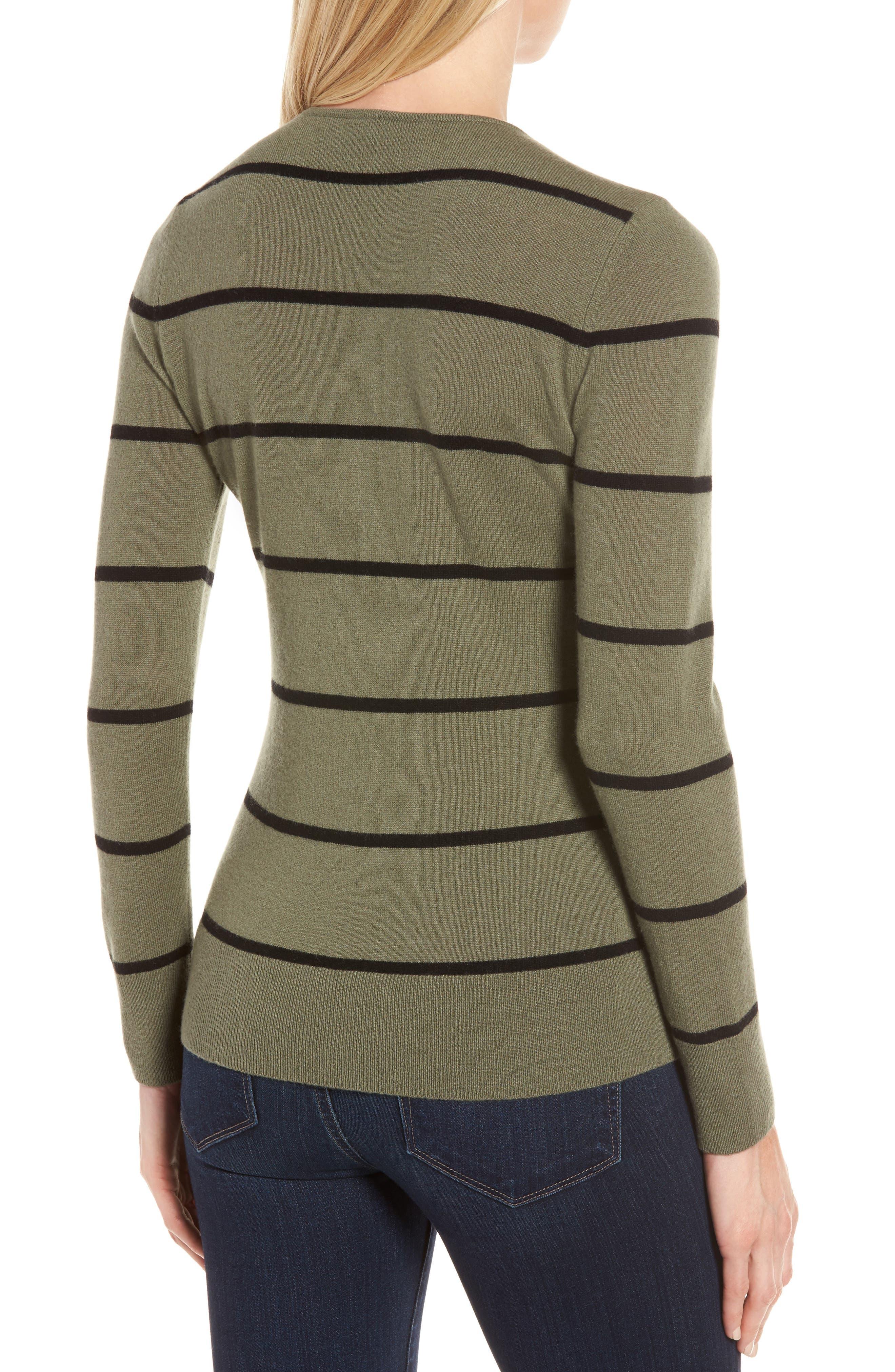 Stripe Cashmere Sweater,                             Alternate thumbnail 2, color,                             315