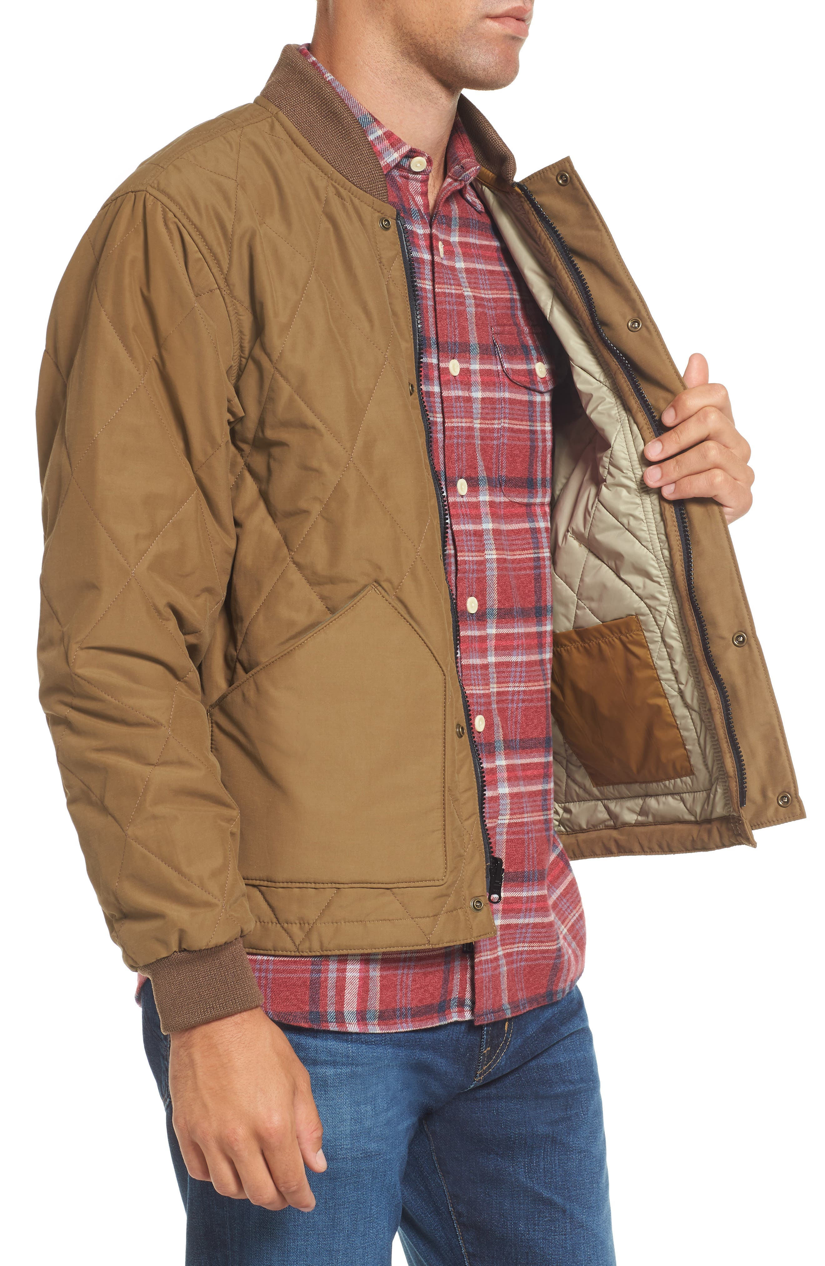 Quilted Pack Water-Resistant Jacket,                             Alternate thumbnail 3, color,                             260
