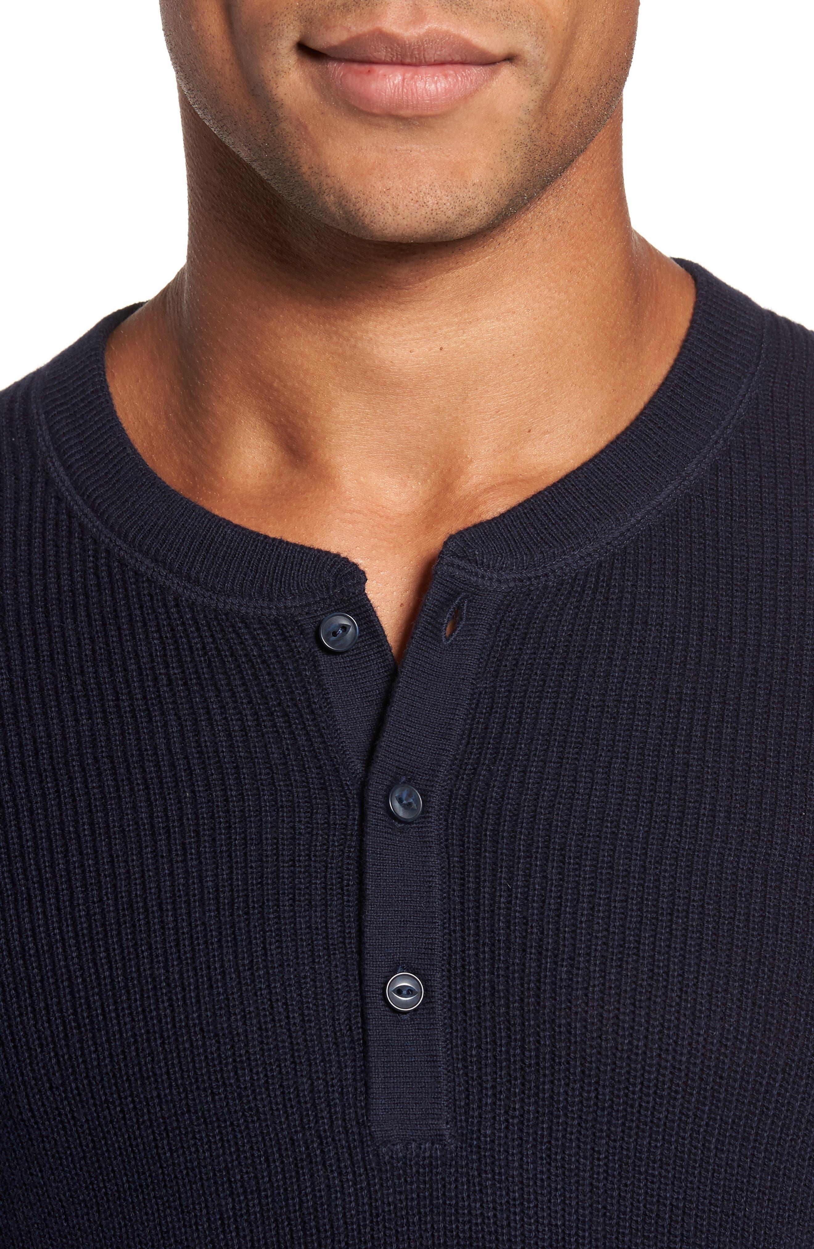 Cotton & Cashmere Henley Sweater,                             Alternate thumbnail 11, color,
