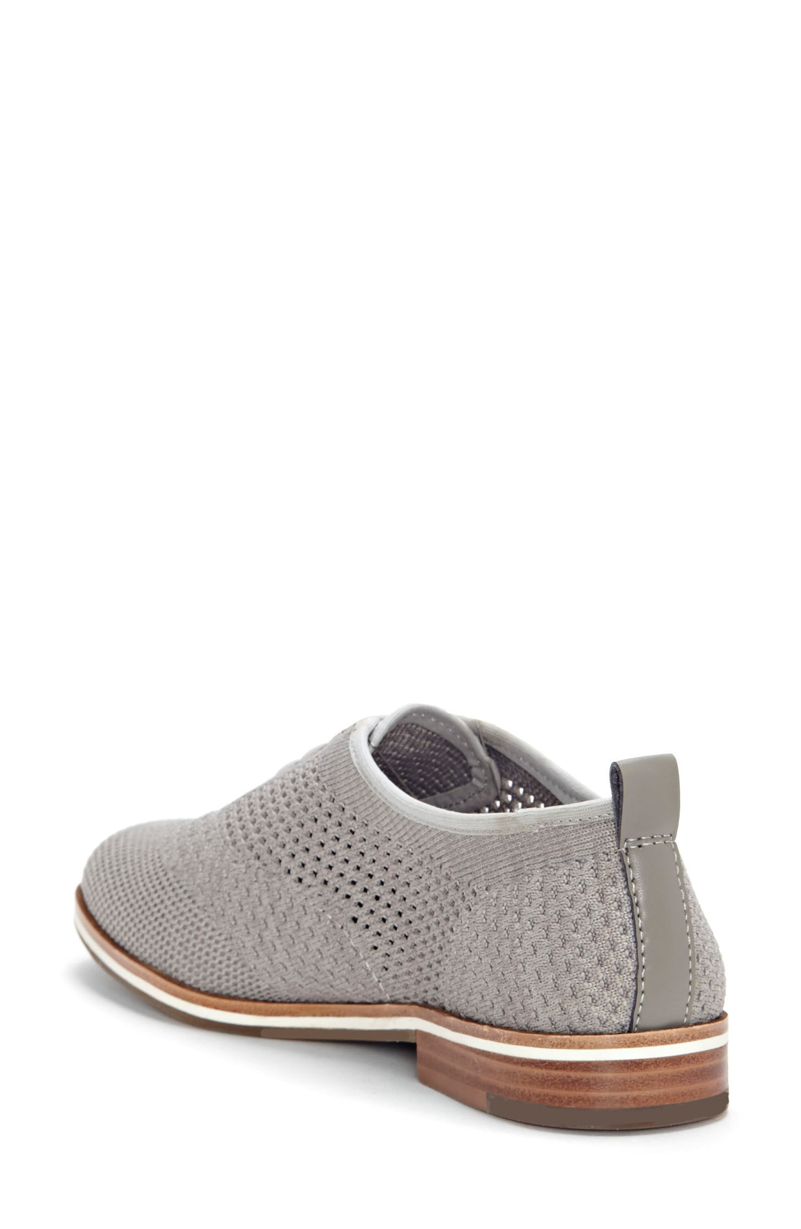 Lucerne Knit Oxford,                             Alternate thumbnail 2, color,                             HEATHER GREY TEXTILE FABRIC