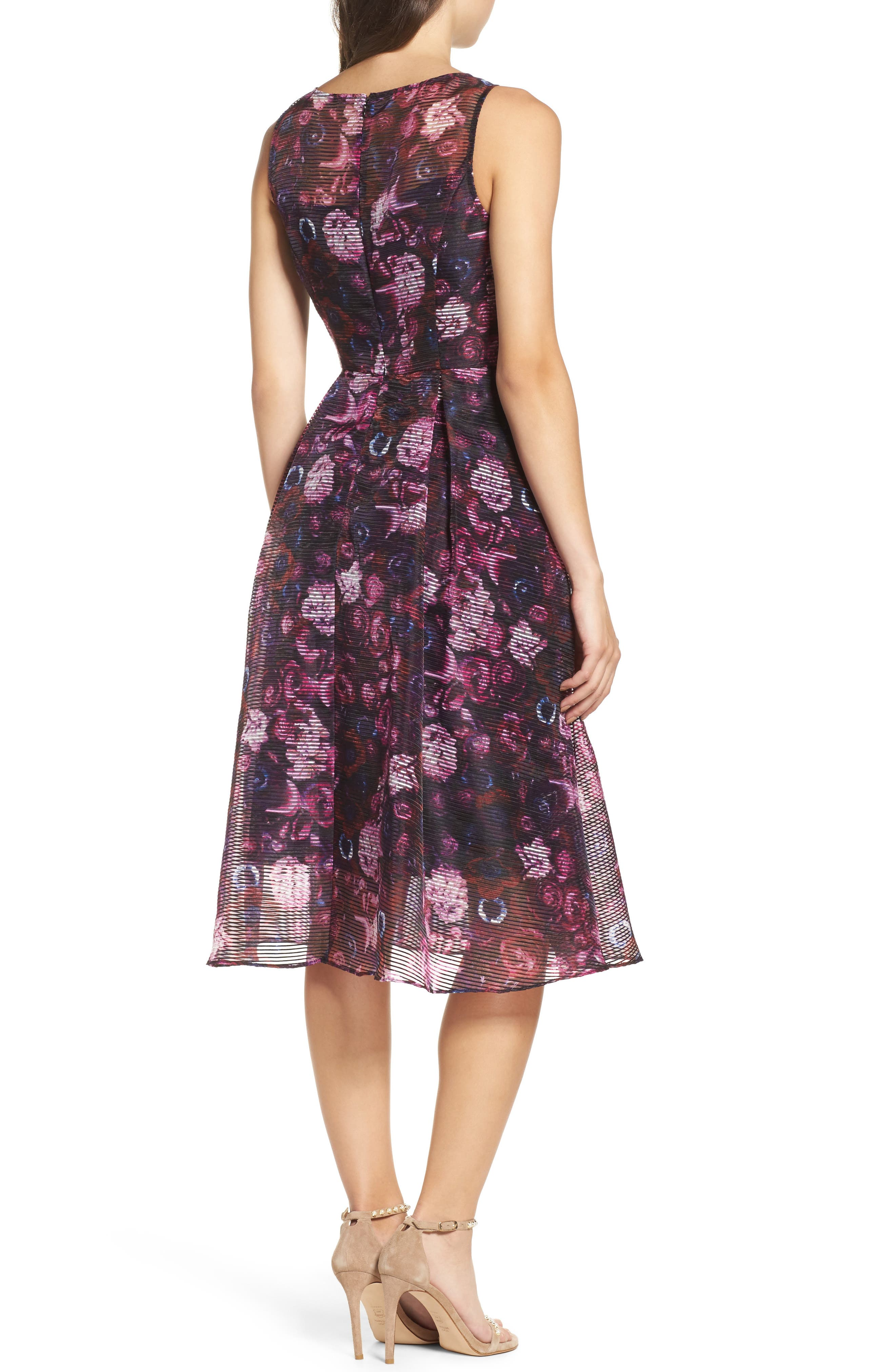 Fit & Flare Dress,                             Alternate thumbnail 2, color,                             010